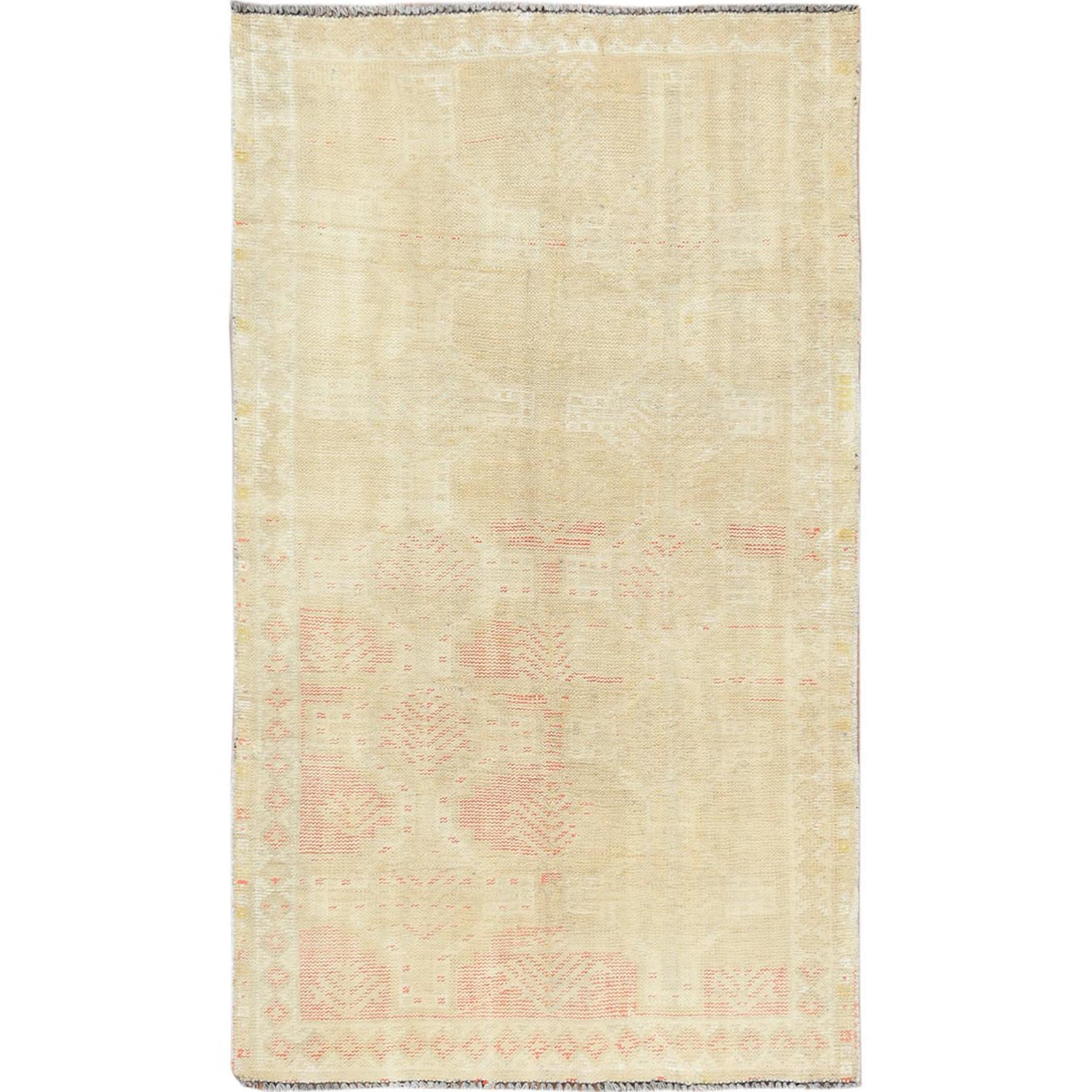 Fetneh Collection And Vintage Overdyed Collection Hand Knotted Yellow Rug No: 1115602