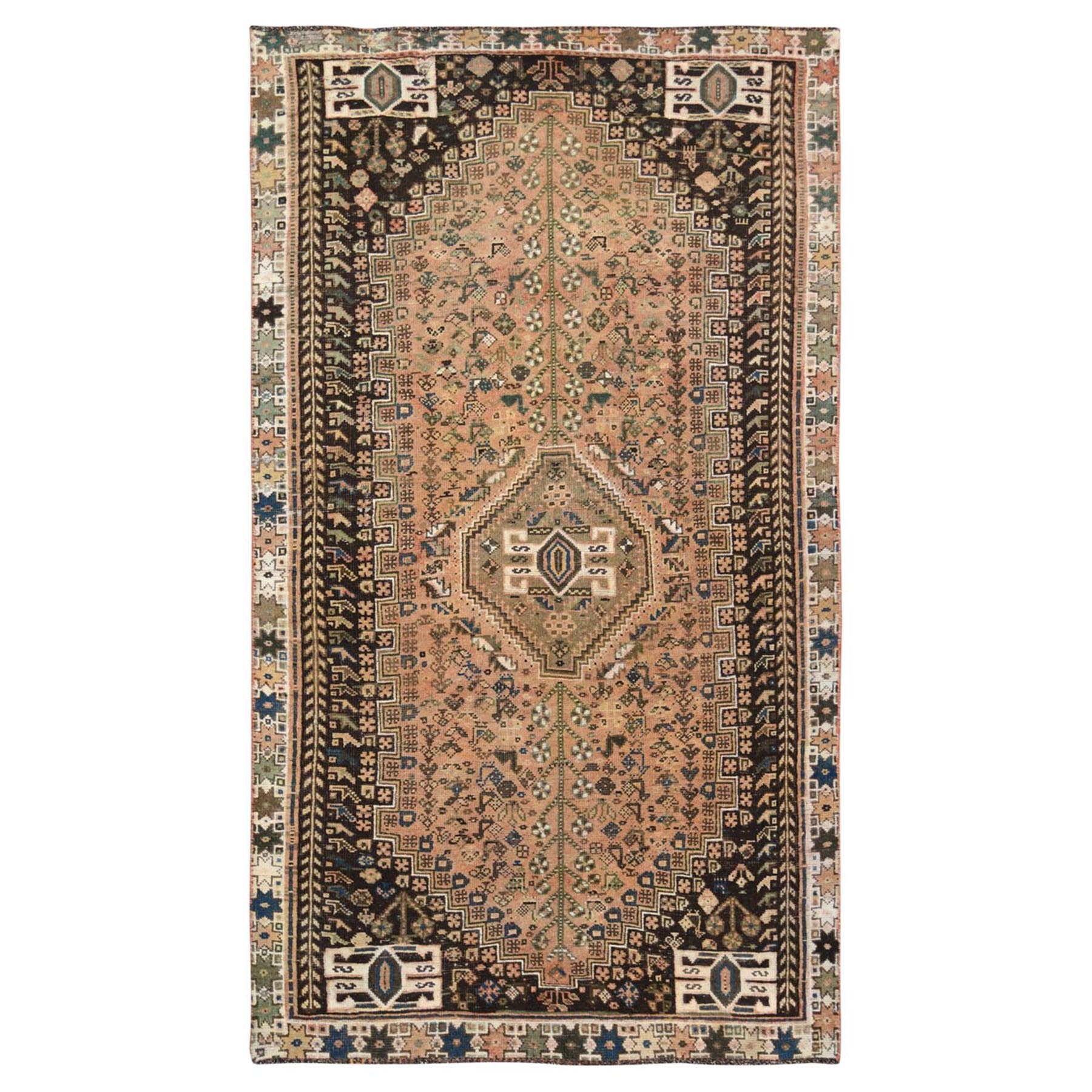 Fetneh Collection And Vintage Overdyed Collection Hand Knotted Beige Rug No: 1115776