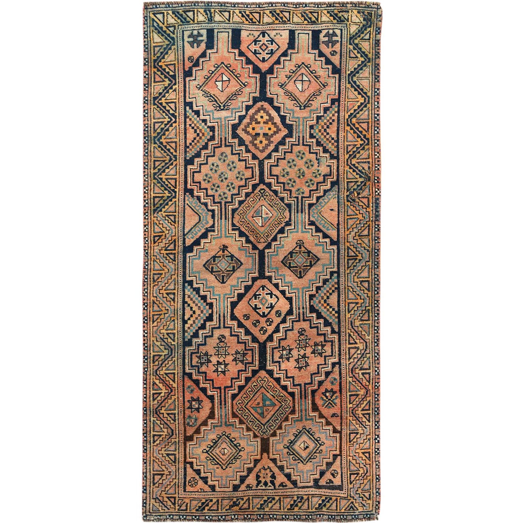 Fetneh Collection And Vintage Overdyed Collection Hand Knotted Brown Rug No: 1115638