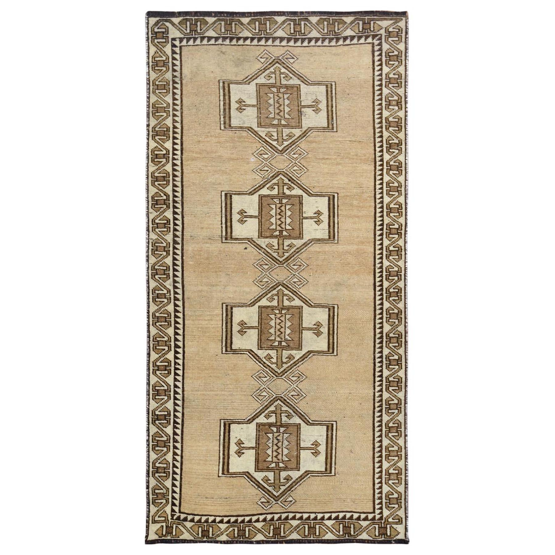 Fetneh Collection And Vintage Overdyed Collection Hand Knotted Beige Rug No: 1115802