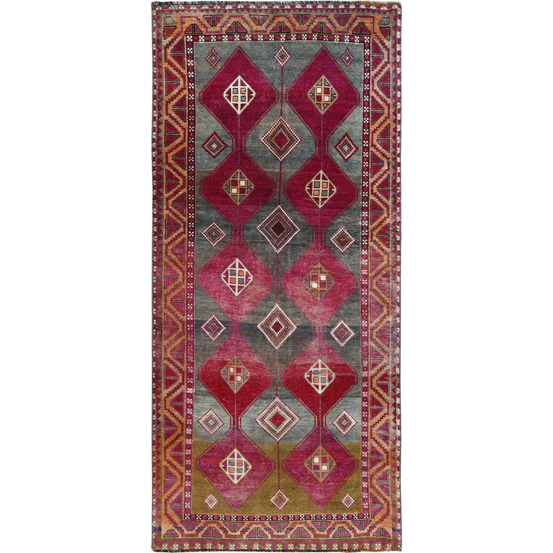 Fetneh Collection And Vintage Overdyed Collection Hand Knotted Pink Rug No: 1115648