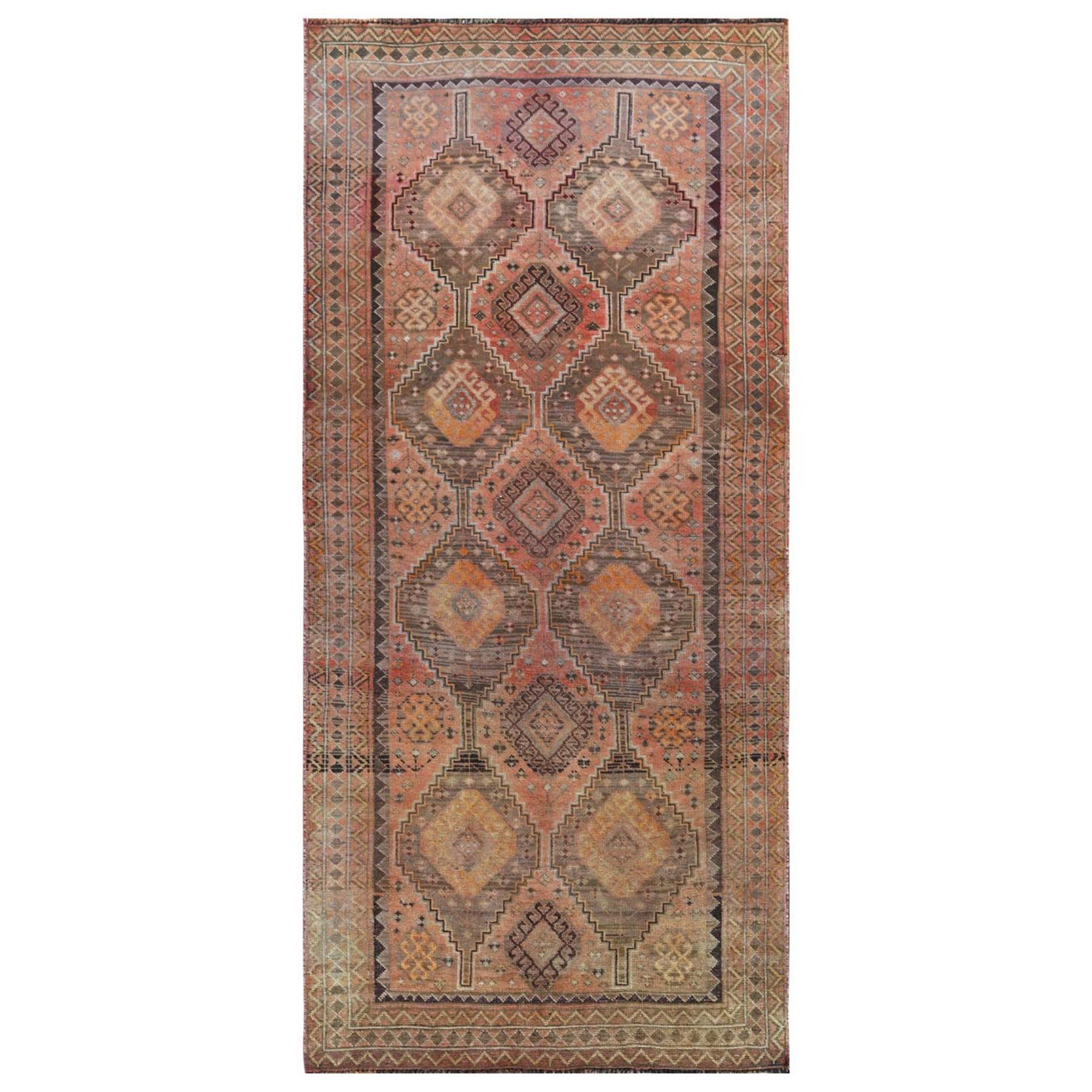 Fetneh Collection And Vintage Overdyed Collection Hand Knotted Red Rug No: 1115826