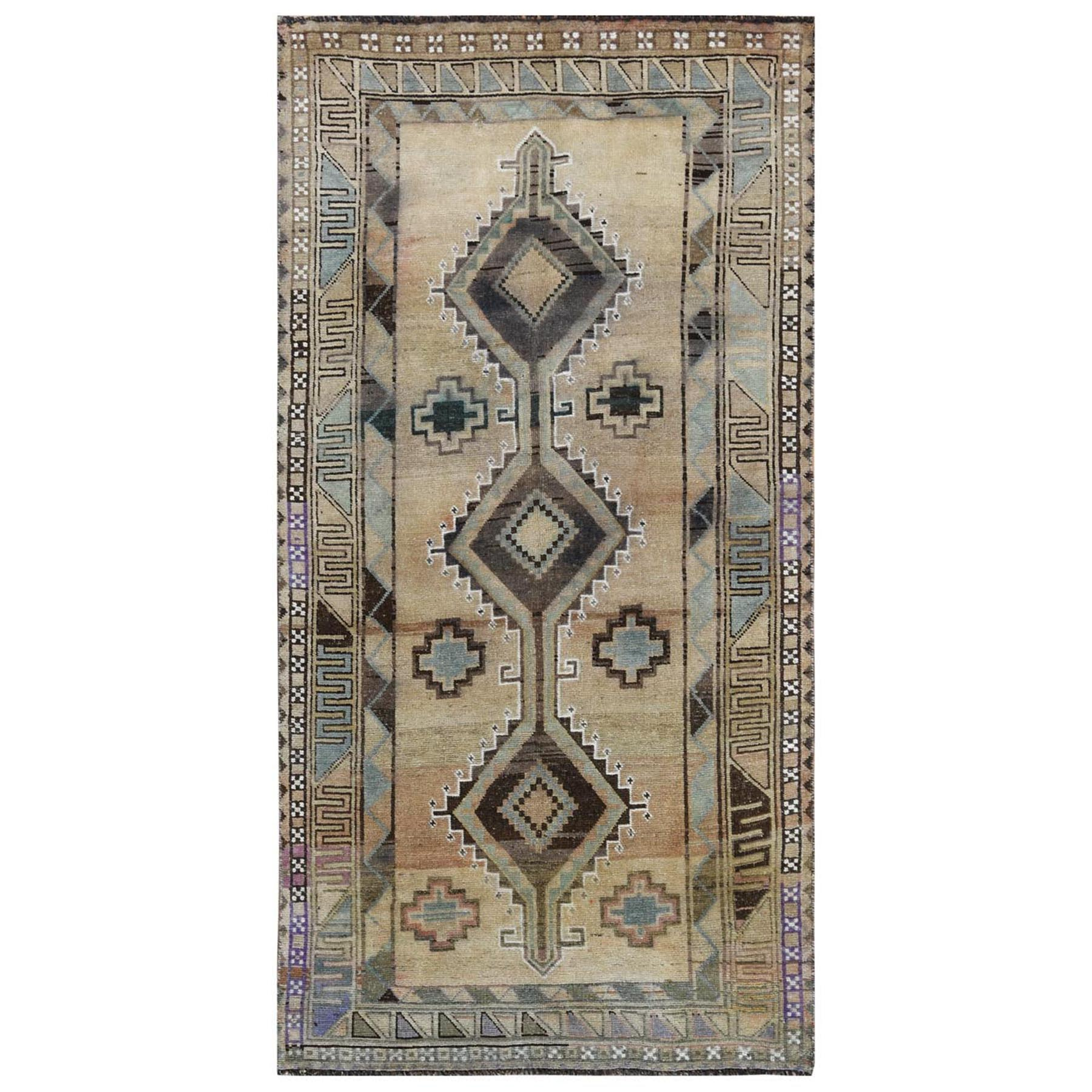 Fetneh Collection And Vintage Overdyed Collection Hand Knotted Beige Rug No: 1115830