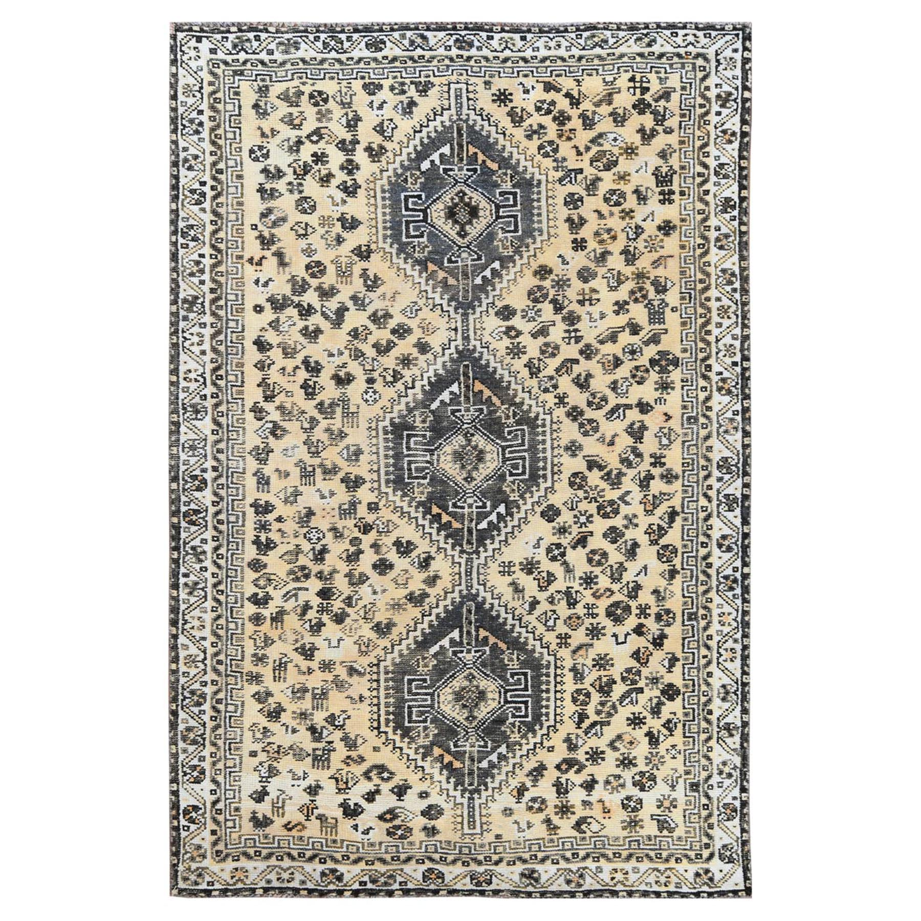 Fetneh Collection And Vintage Overdyed Collection Hand Knotted Ivory Rug No: 1115834