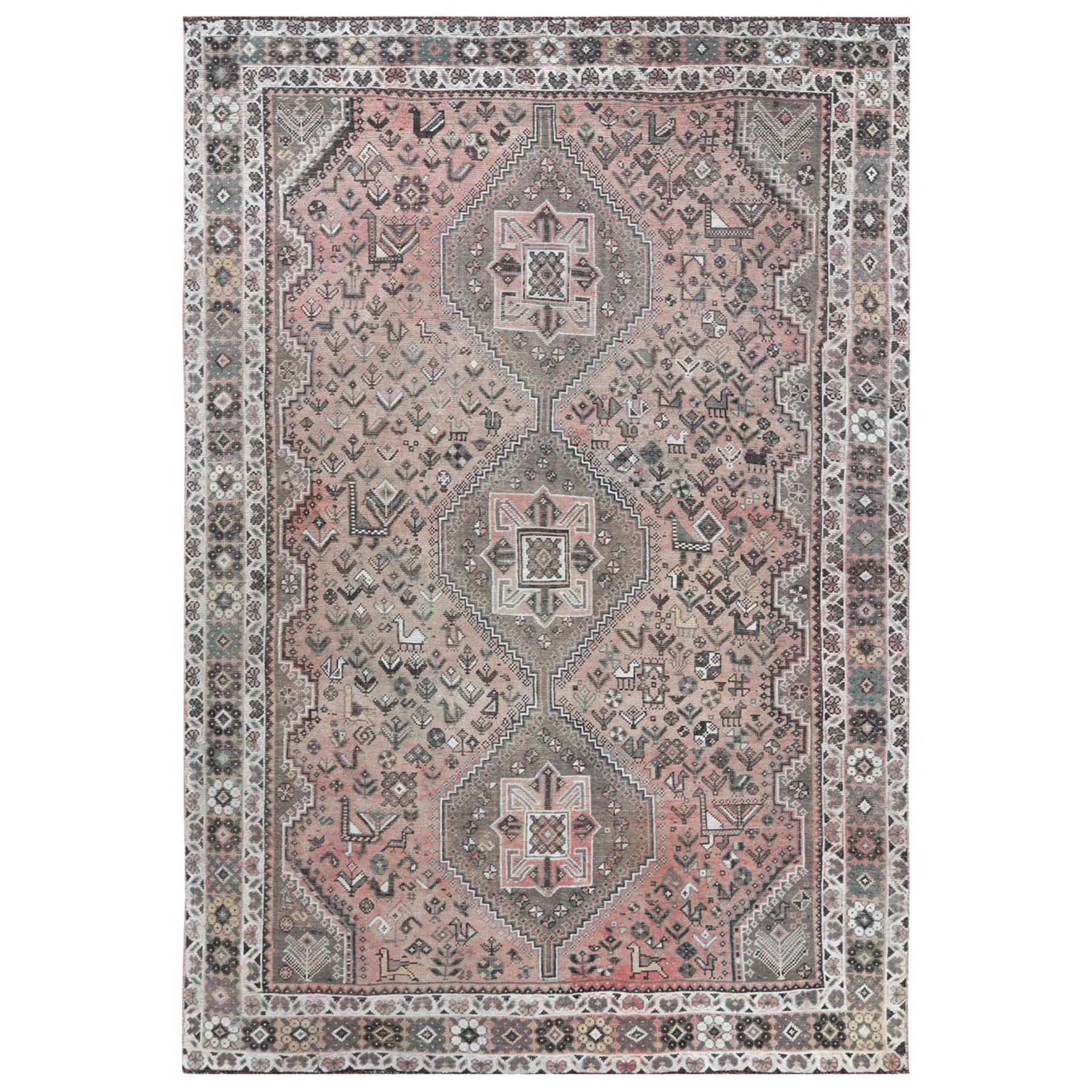 Fetneh Collection And Vintage Overdyed Collection Hand Knotted Brown Rug No: 1115838