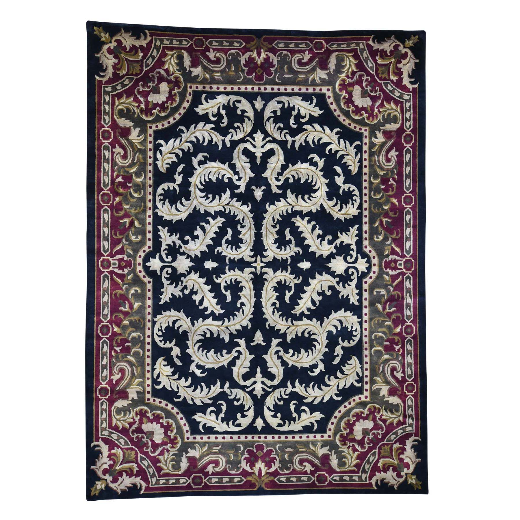Deep discounted Collection Hand Knotted Black Rug No: 192996