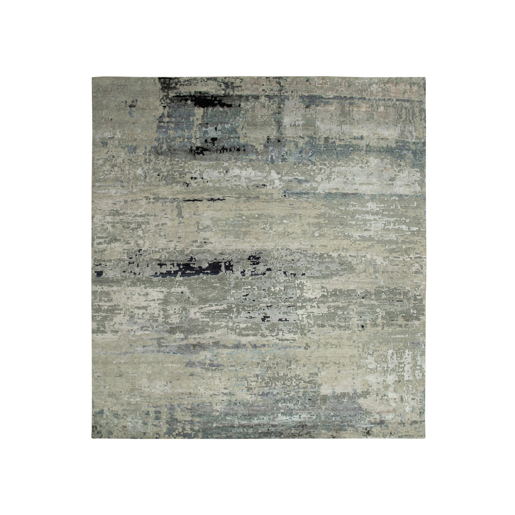 Mid Century Modern Collection Hand Knotted Brown Rug No: 1117812