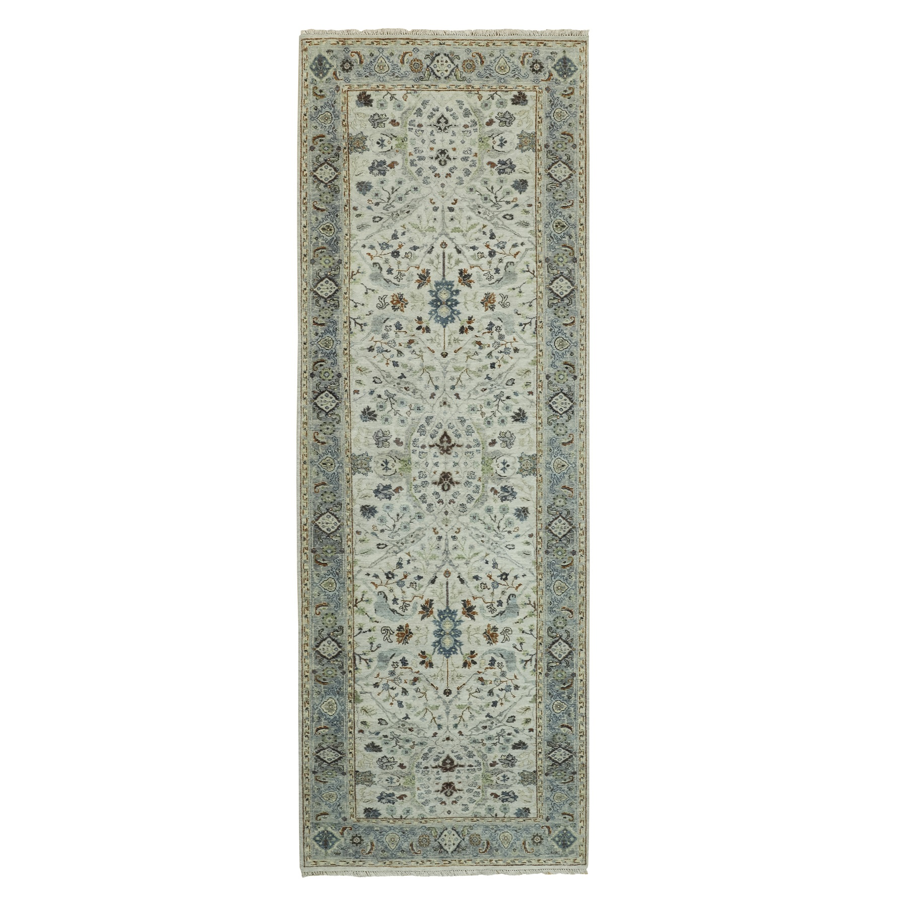 Agra And Turkish Collection Hand Knotted Grey Rug No: 1117720