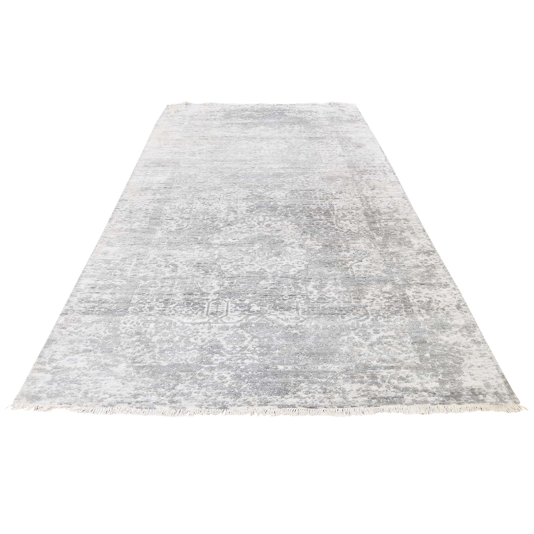 Transitional Hand Knotted Grey Rug No: 193148