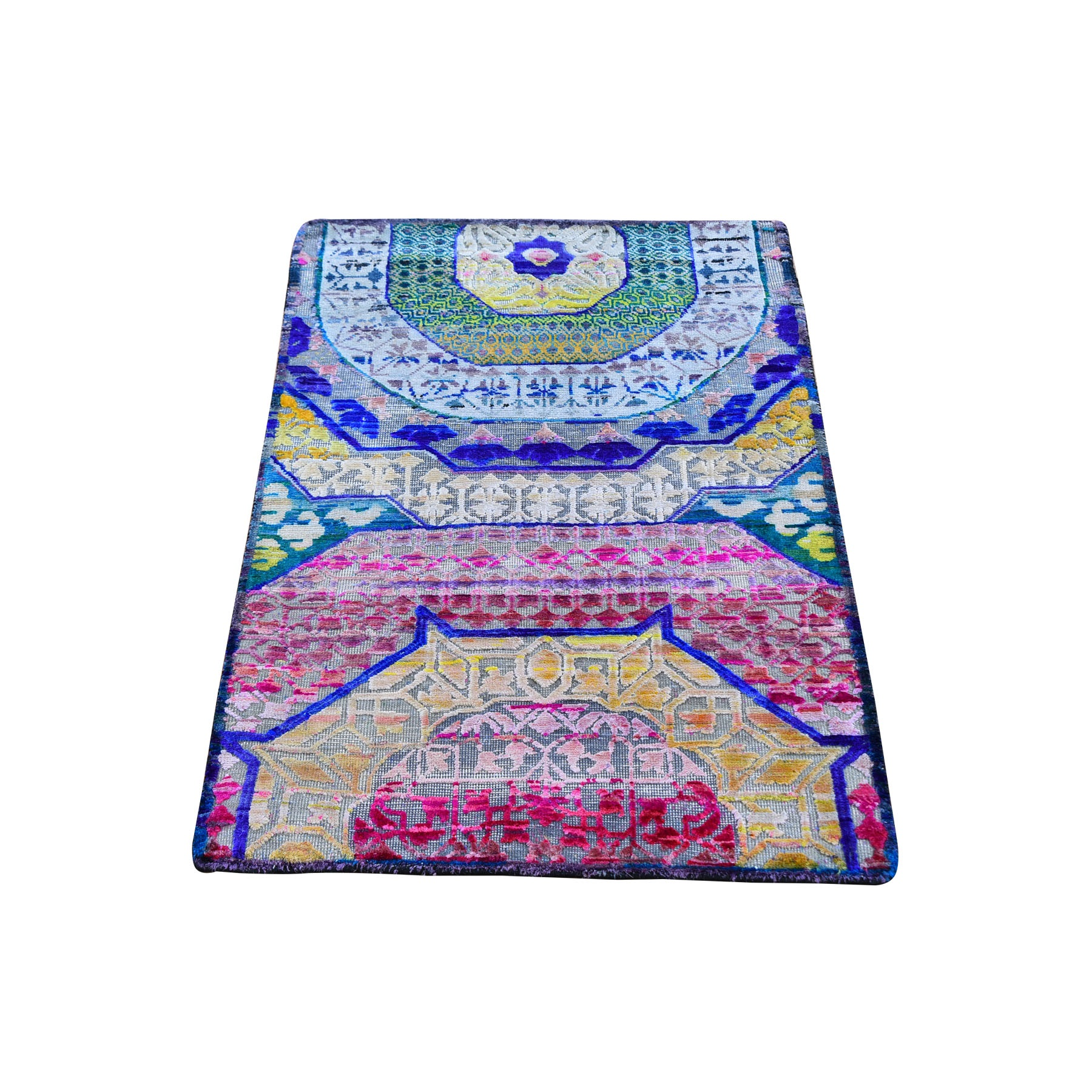 Intricate Collection Hand Knotted Pink Rug No: 1119092