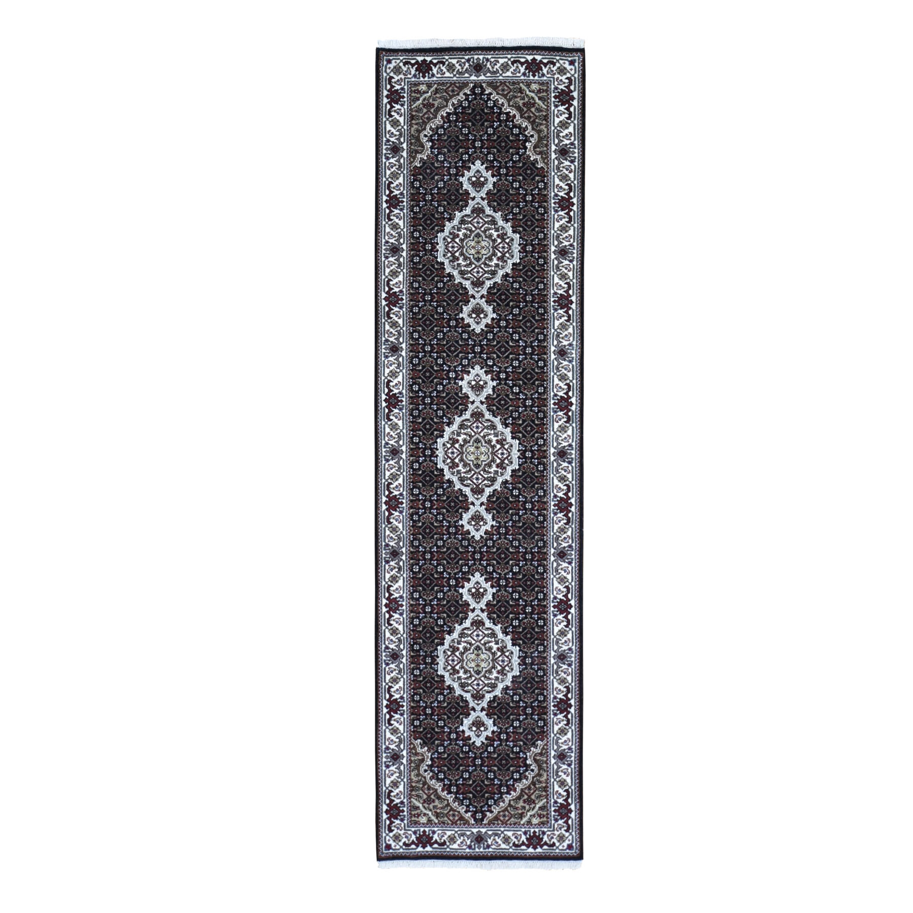 Pirniakan Collection Hand Knotted Black Rug No: 1119116