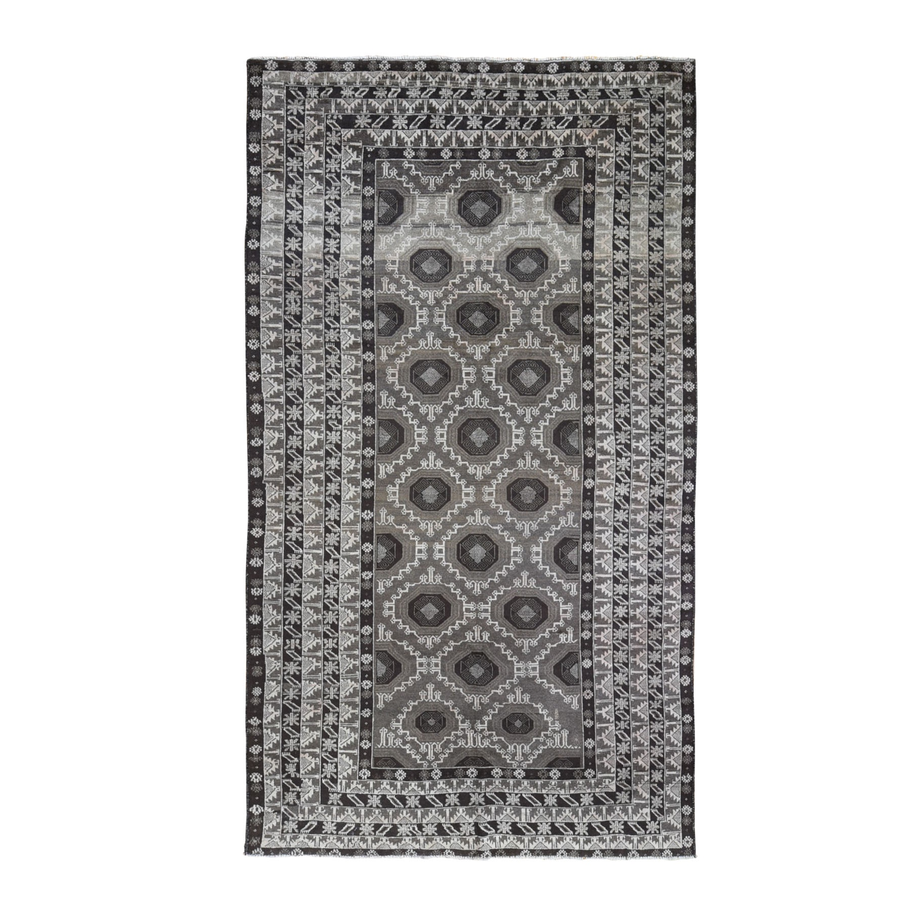 Nomadic And Village Collection Hand Knotted Black Rug No: 1119128