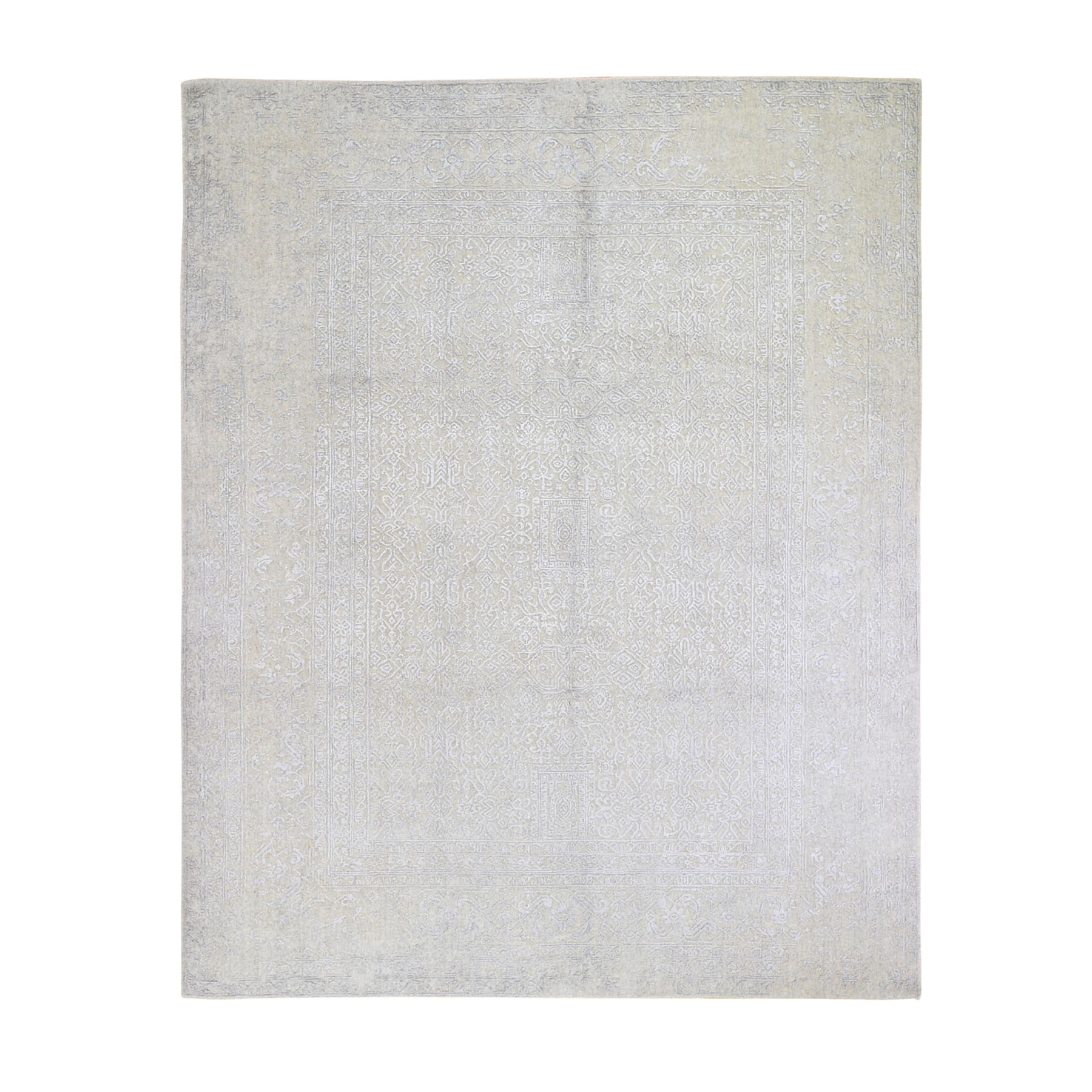 Mid Century Modern Collection Hand Loomed Grey Rug No: 1119132