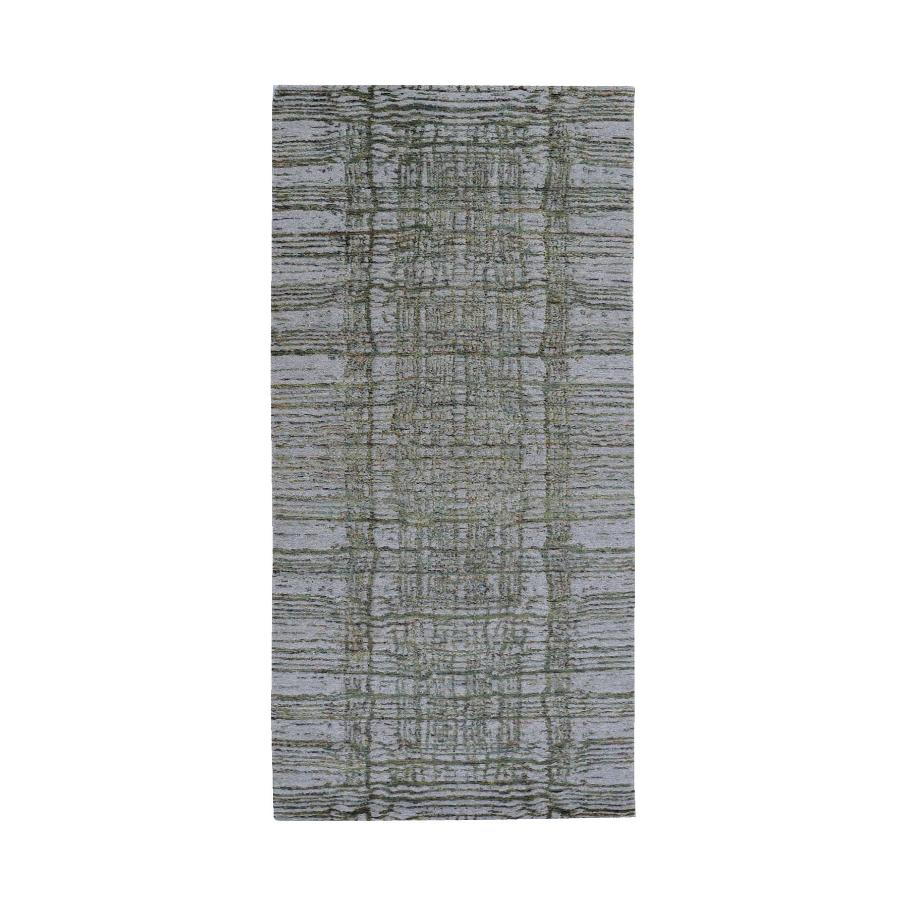 Mid Century Modern Collection Hand Loomed Grey Rug No: 1119222