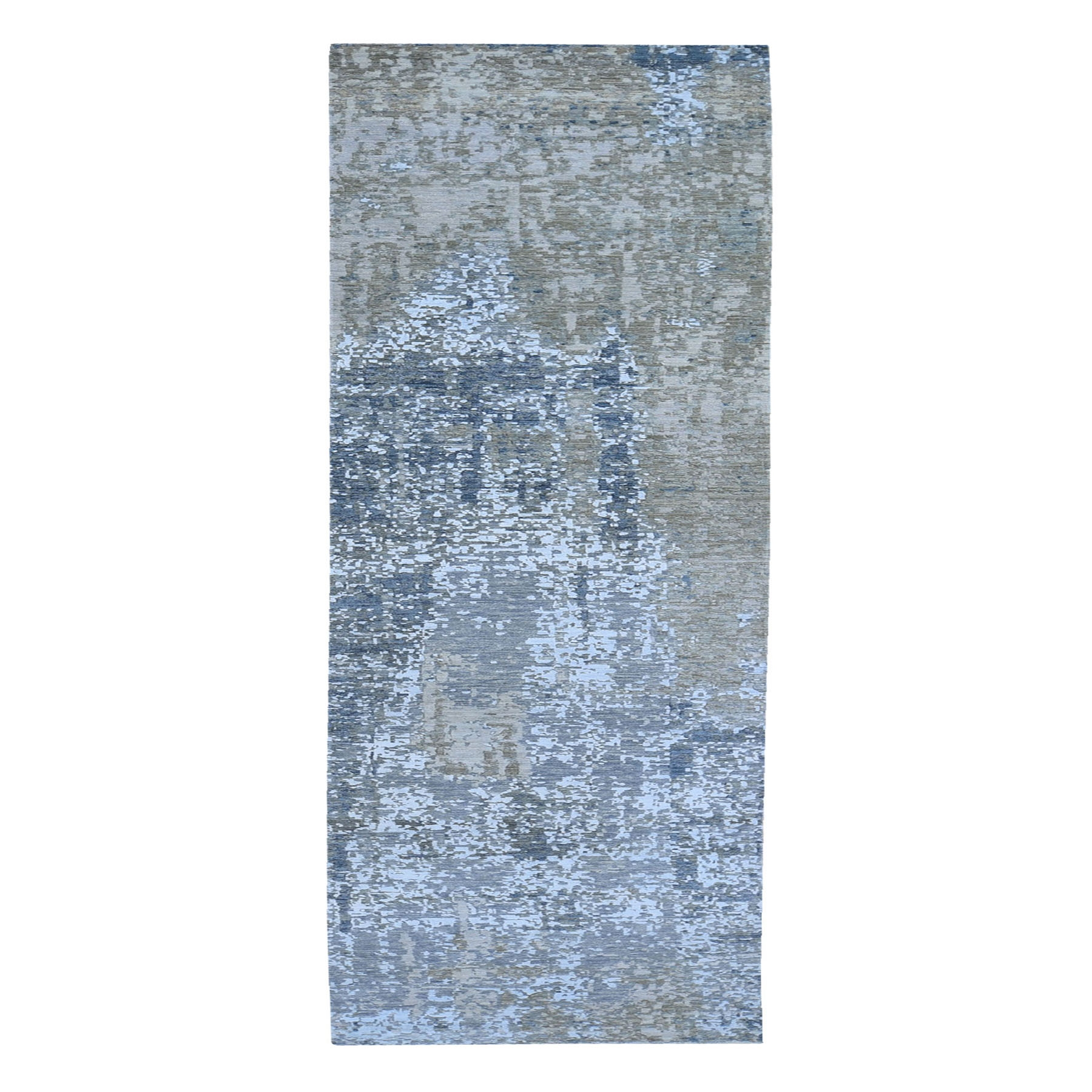 Mid Century Modern Collection Hand Knotted Grey Rug No: 1119234