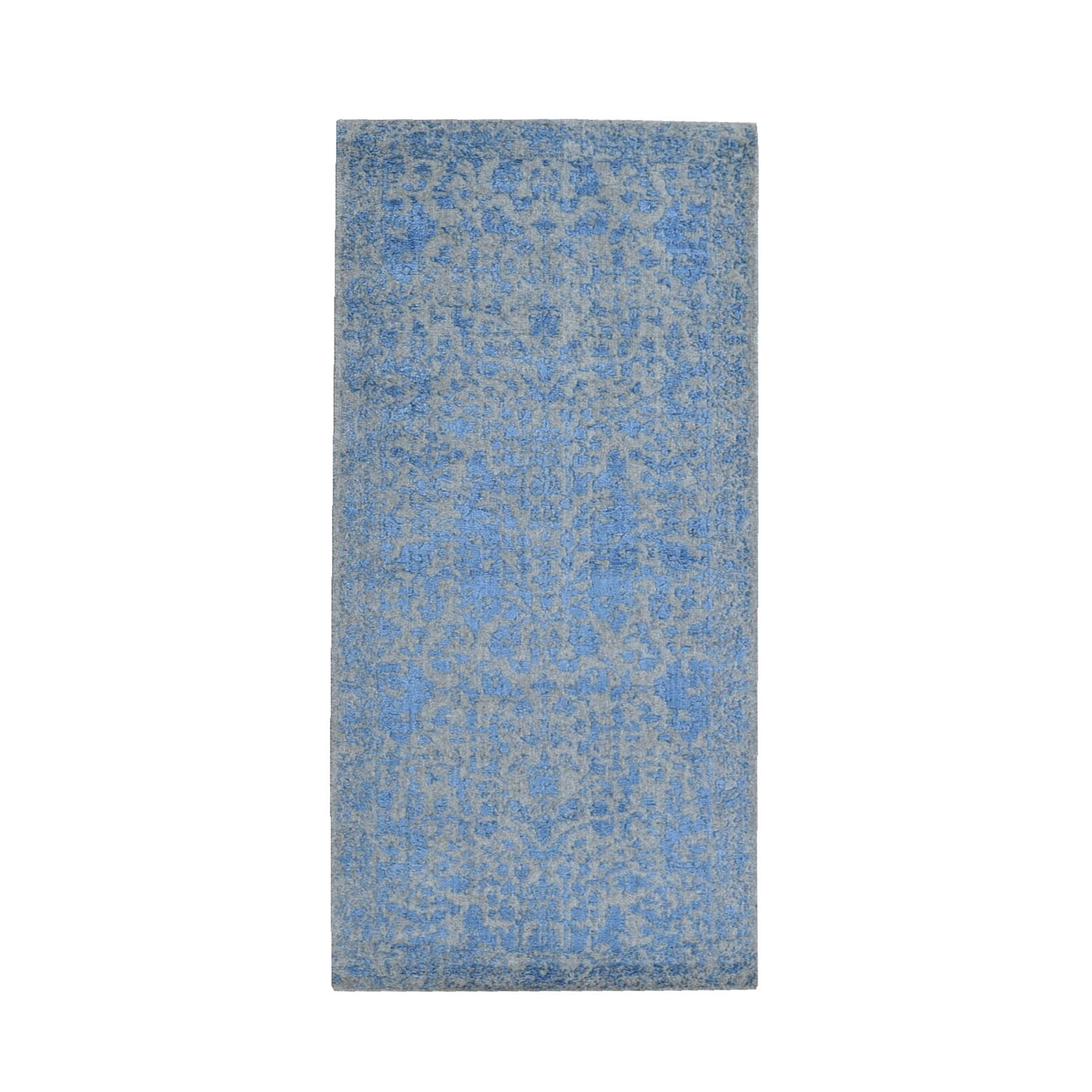 Transitional Hand Loomed Blue Rug No: 1119236