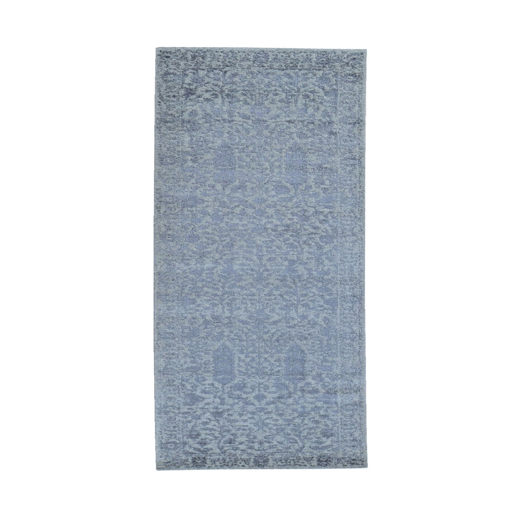 Mid Century Modern Collection Hand Loomed Grey Rug No: 1119240