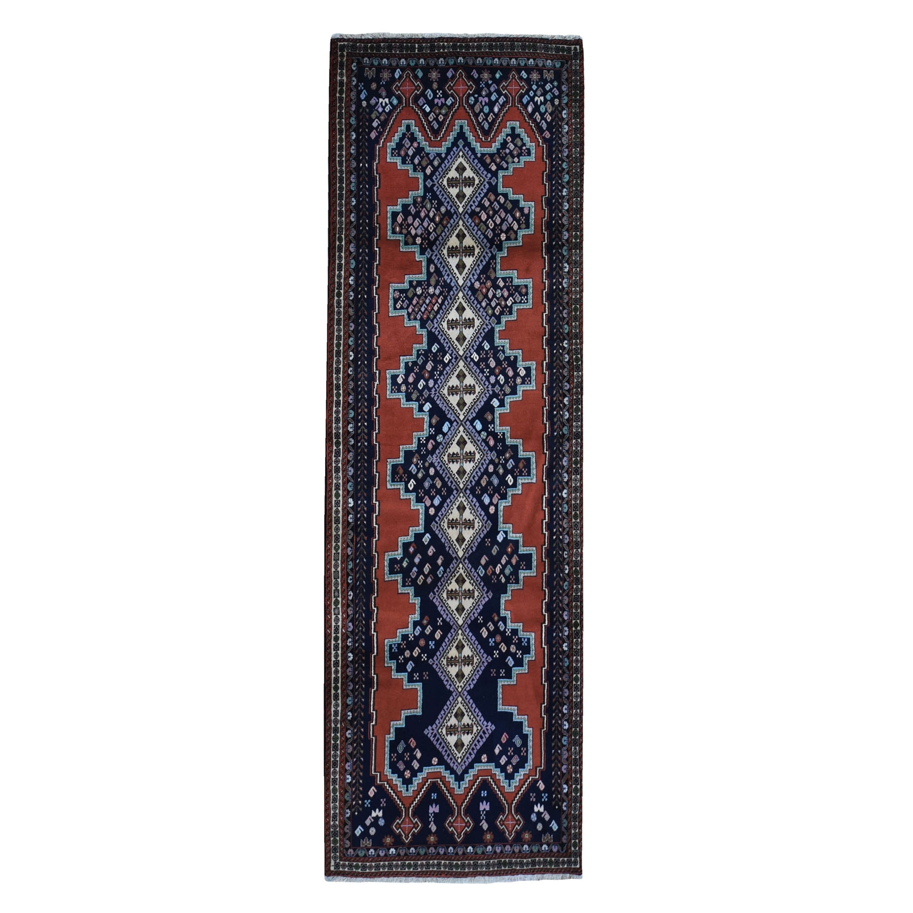 Classic Persian Collection Hand Knotted Orange Rug No: 1119334