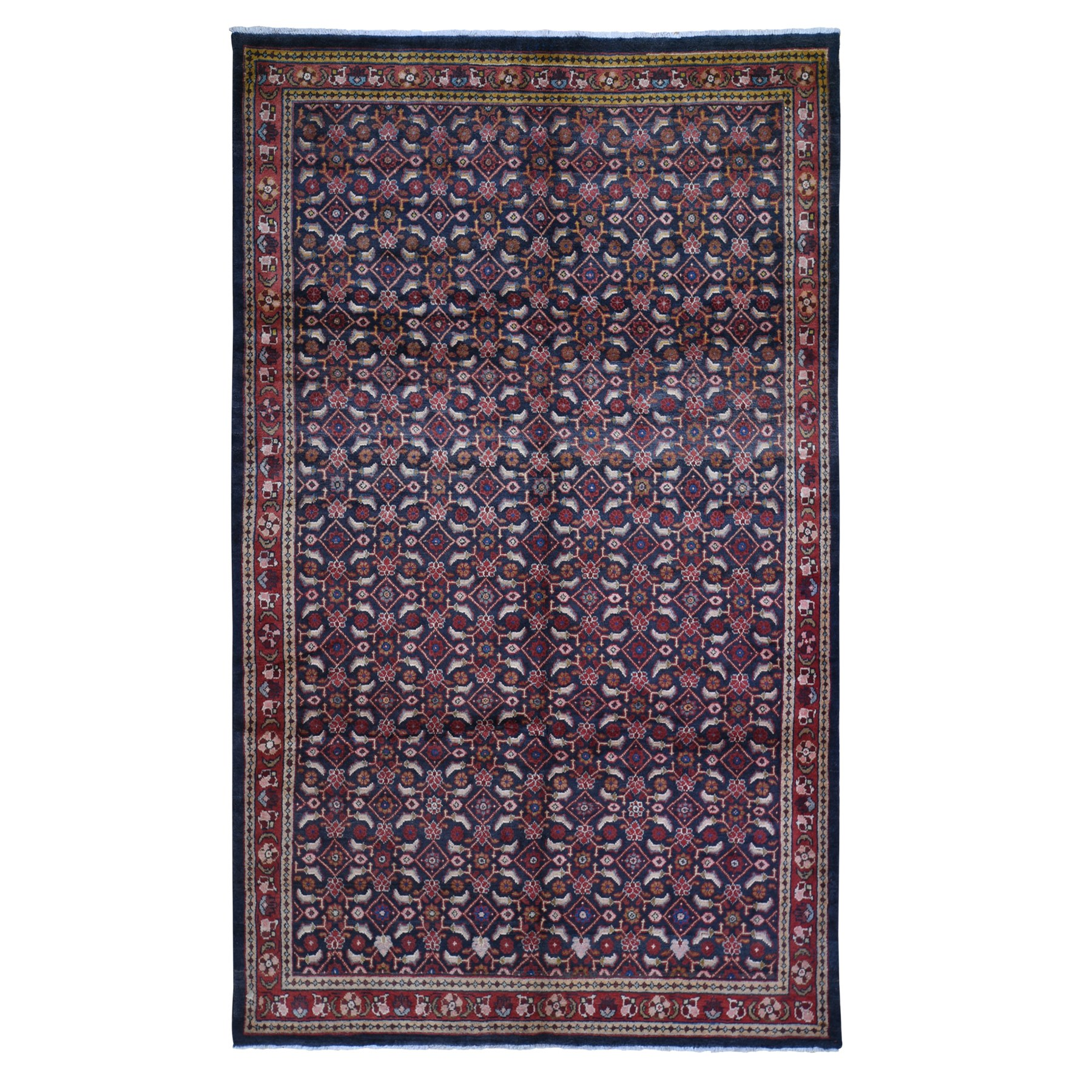 Classic Persian Collection Hand Knotted Black Rug No: 1119394