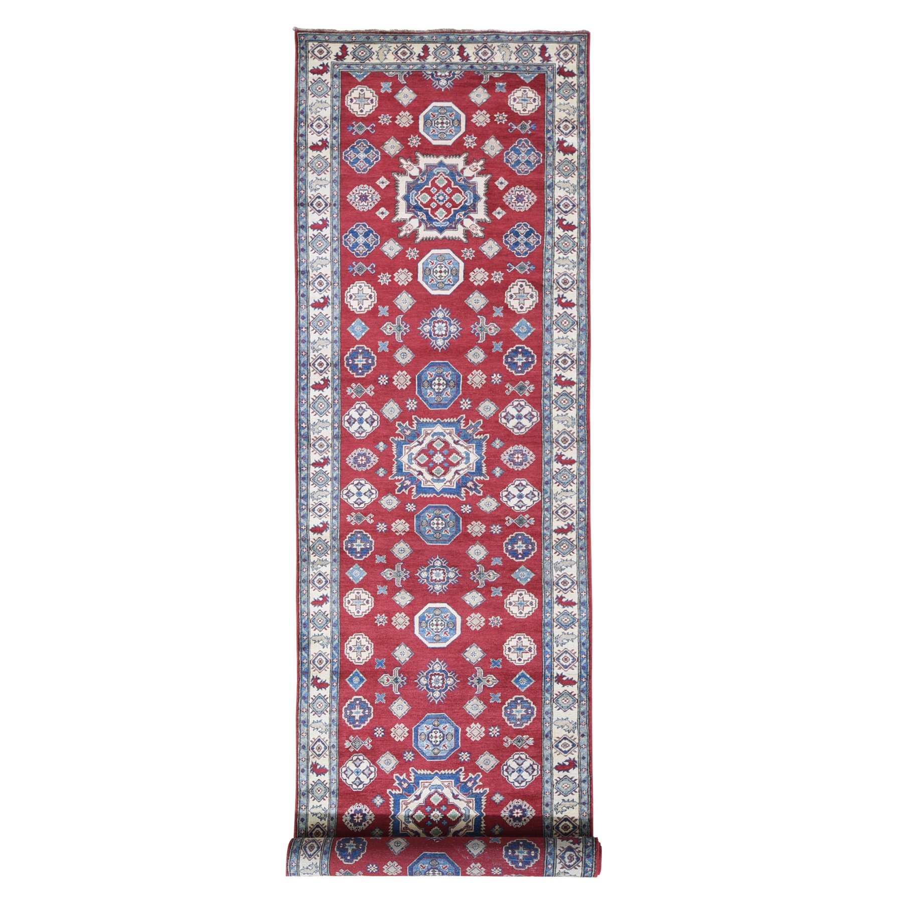 Caucasian Collection Hand Knotted Red Rug No: 1119398