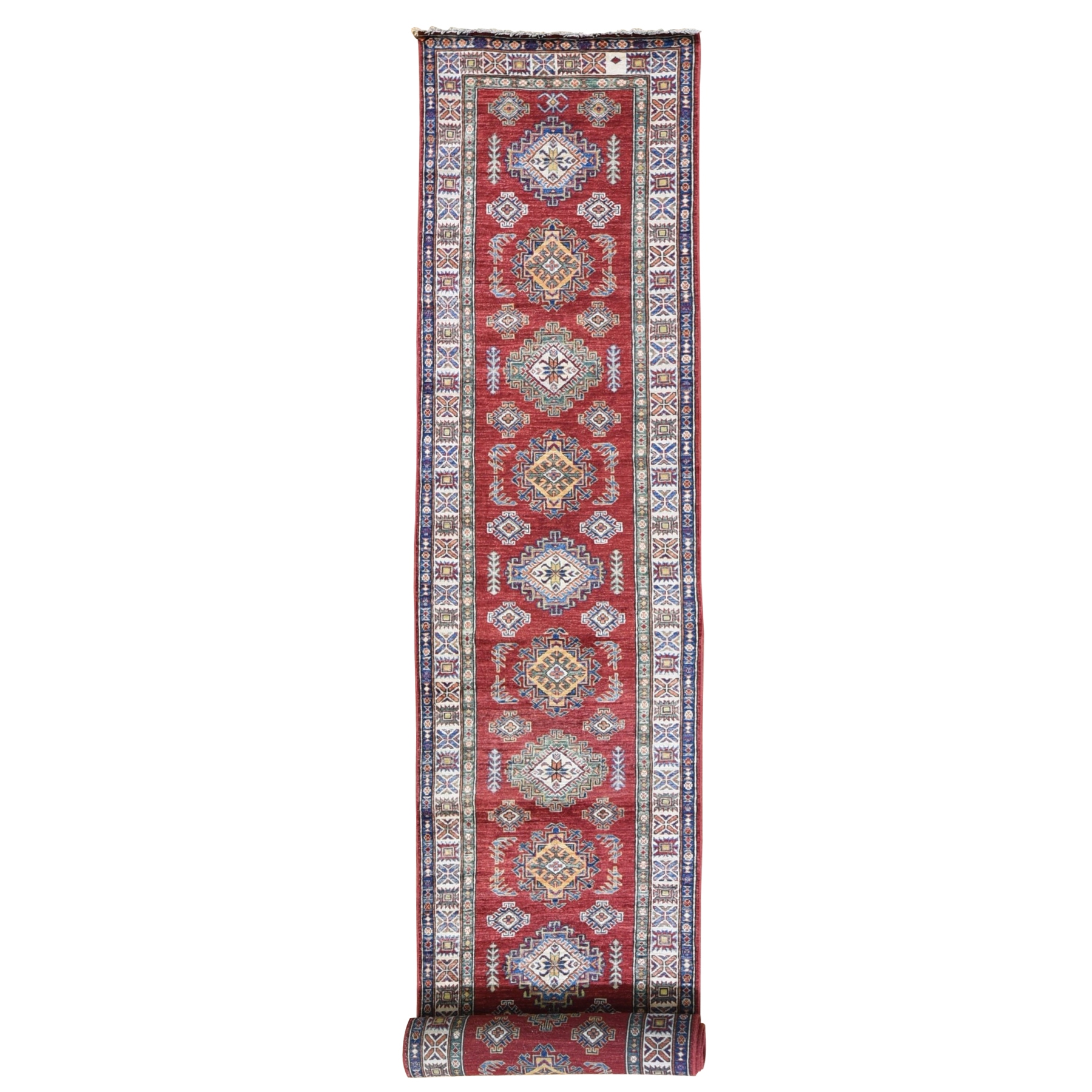Caucasian Collection Hand Knotted Red Rug No: 1119400