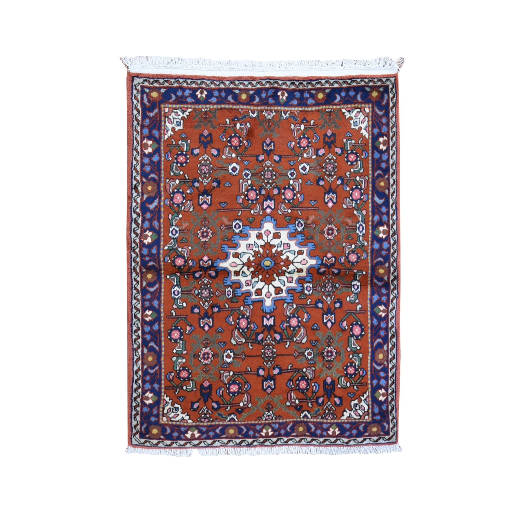 Classic Persian Collection Hand Knotted Orange Rug No: 1119418