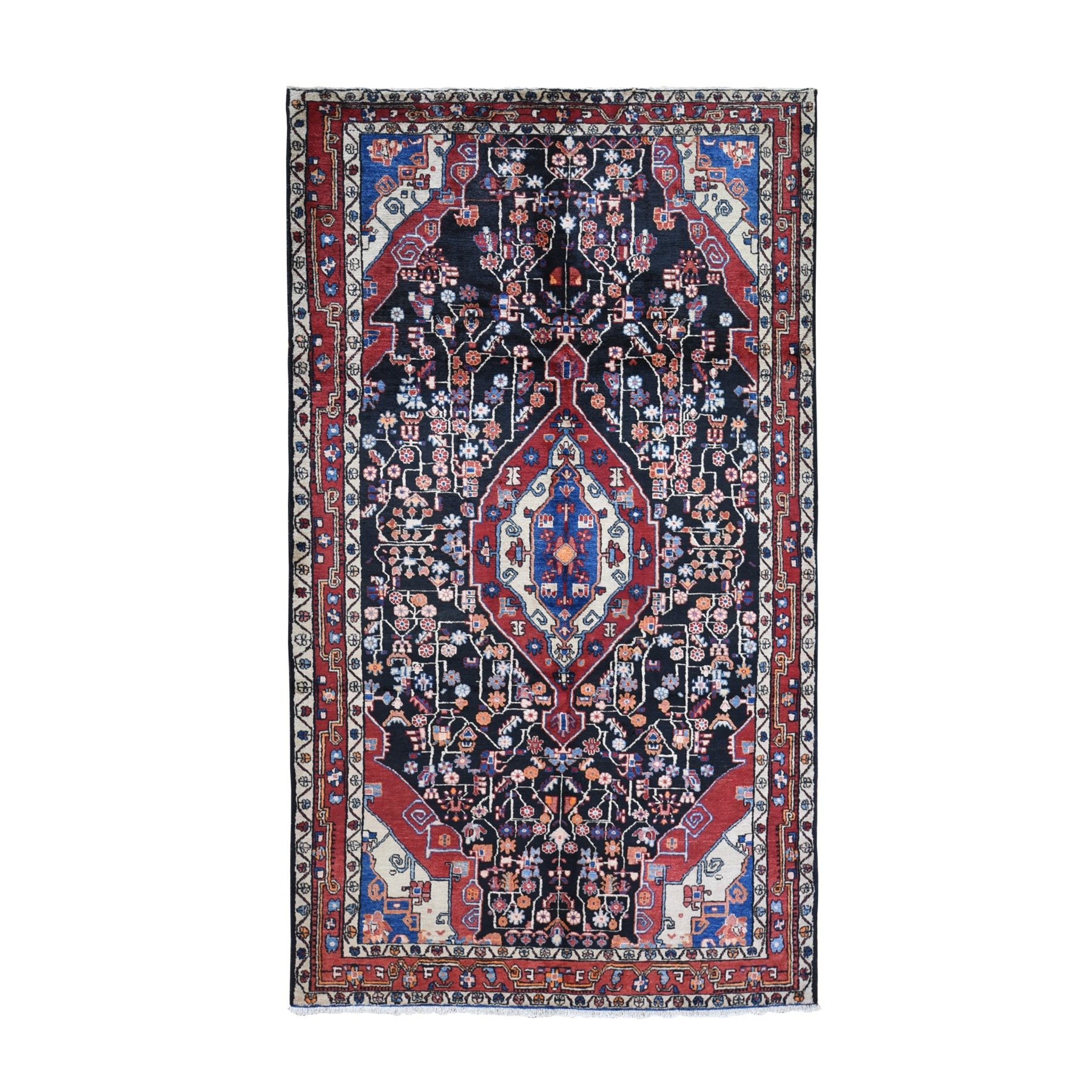 Classic Persian Collection Hand Knotted Black Rug No: 1119432