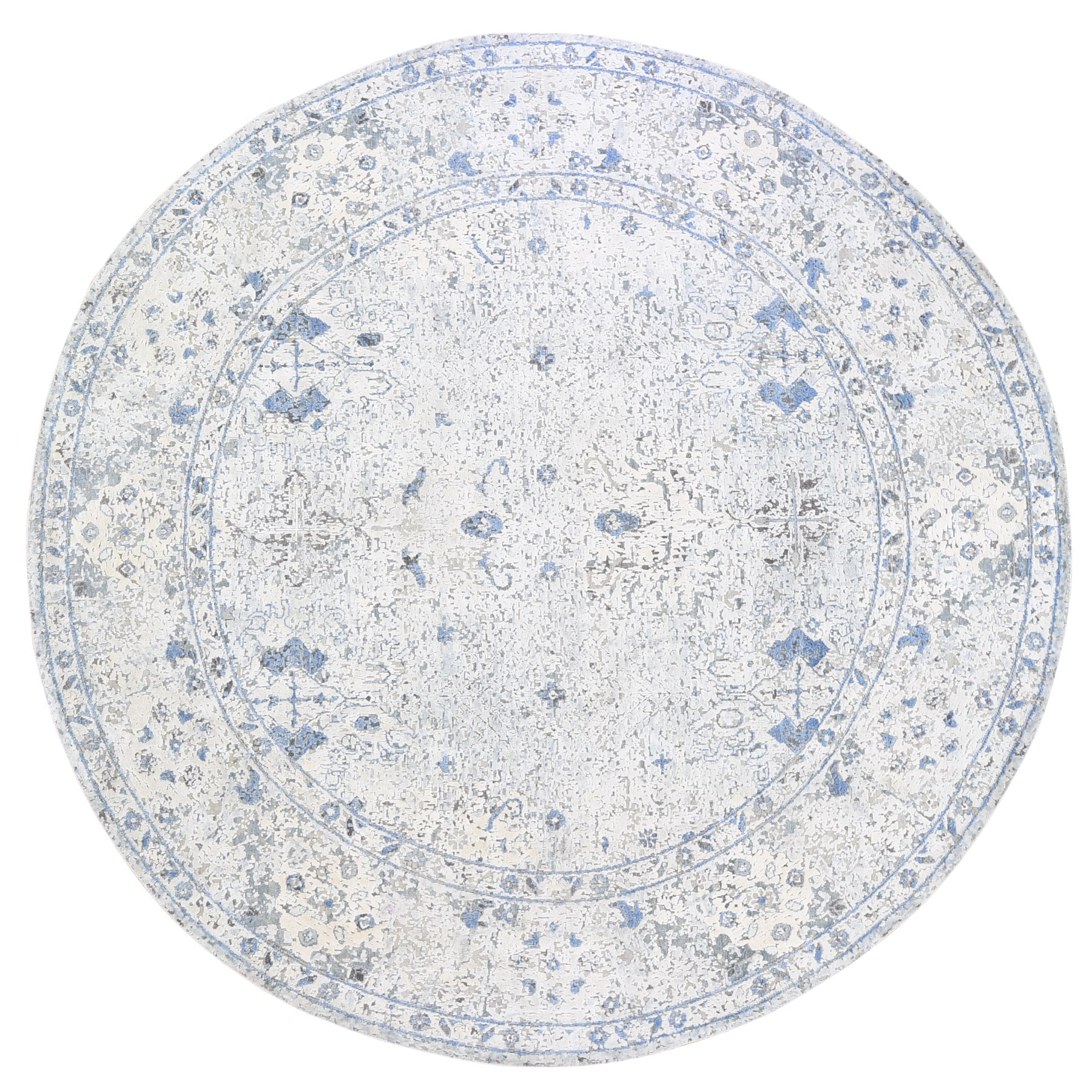 Transitional Hand Knotted Blue Rug No: 1119466