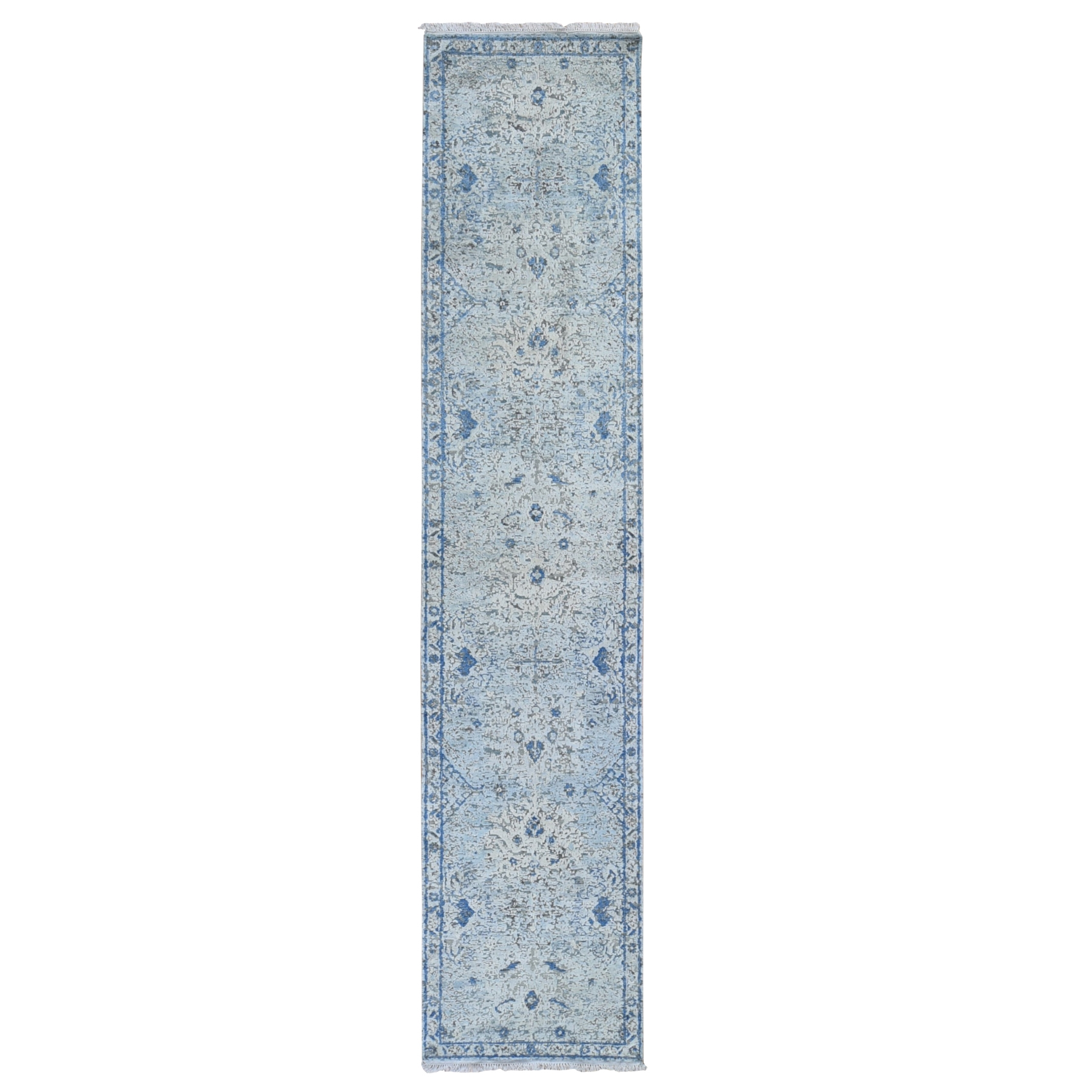 Transitional Hand Knotted Blue Rug No: 1119478