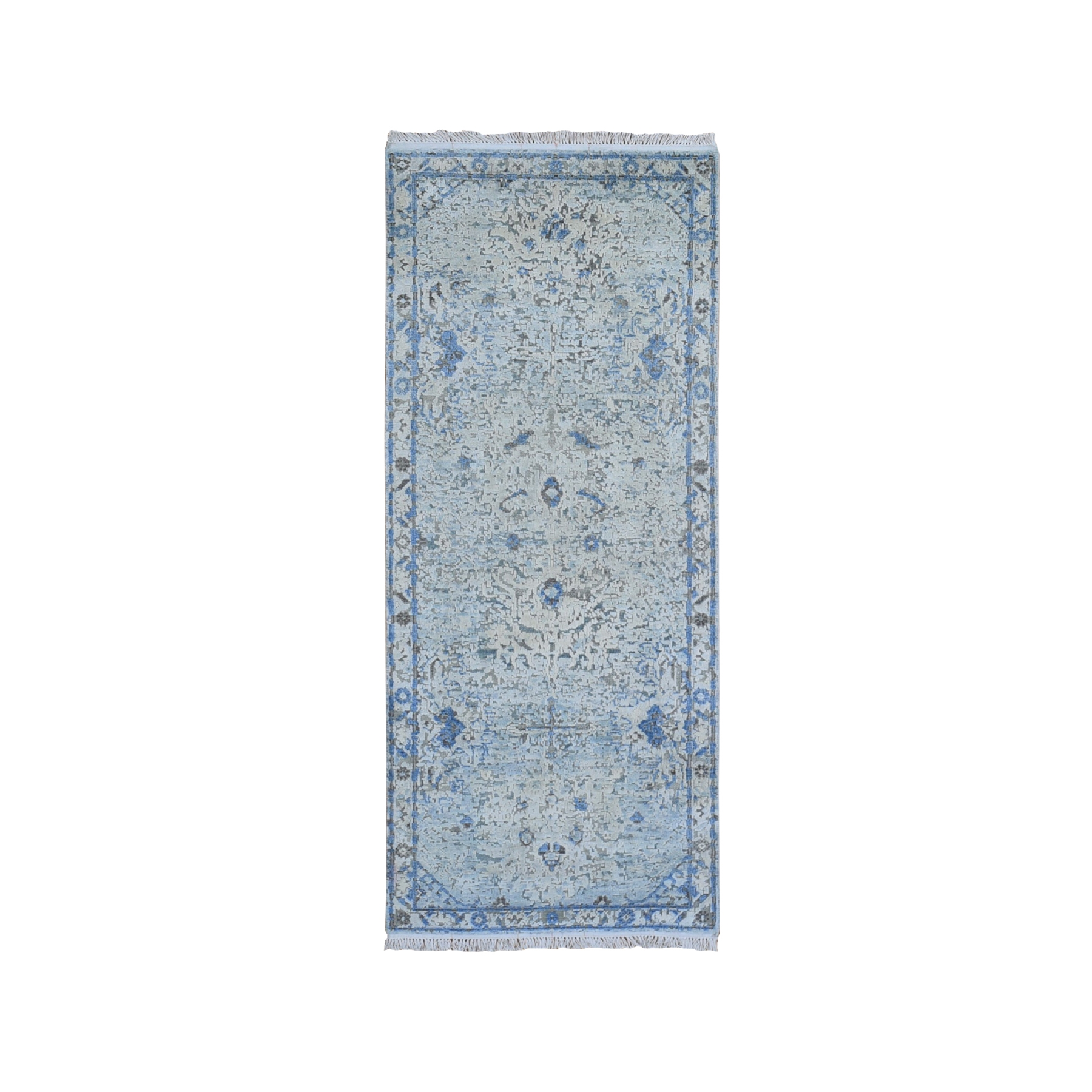 Transitional Hand Knotted Blue Rug No: 1119486