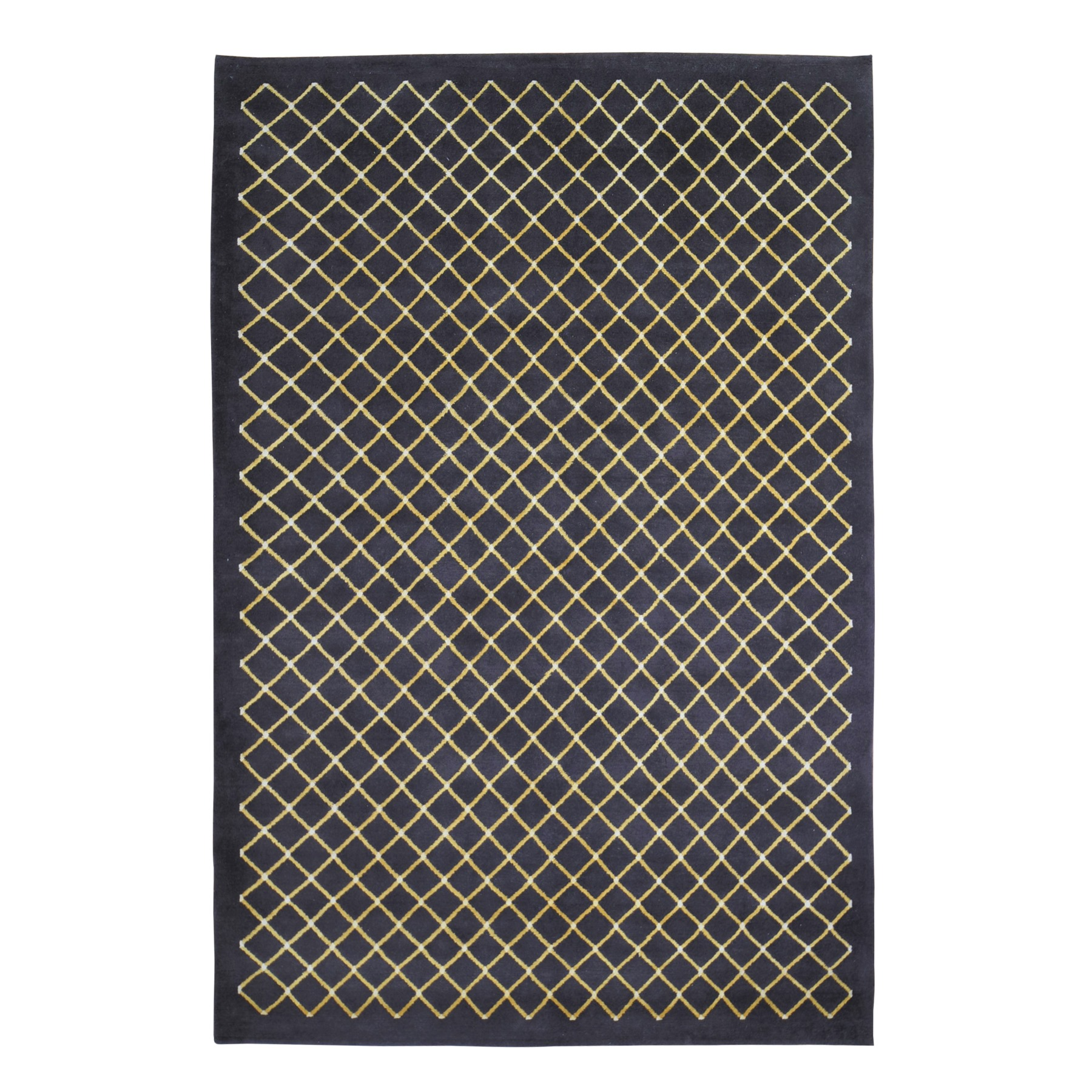 Mid Century Modern Collection Hand Knotted Brown Rug No: 1119498