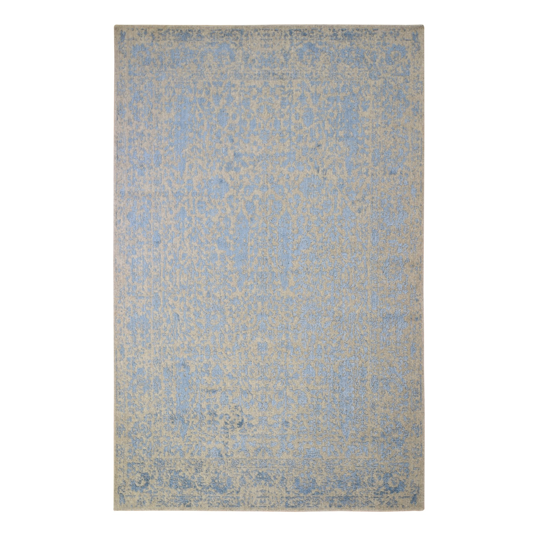 Transitional Hand Loomed Blue Rug No: 1119524