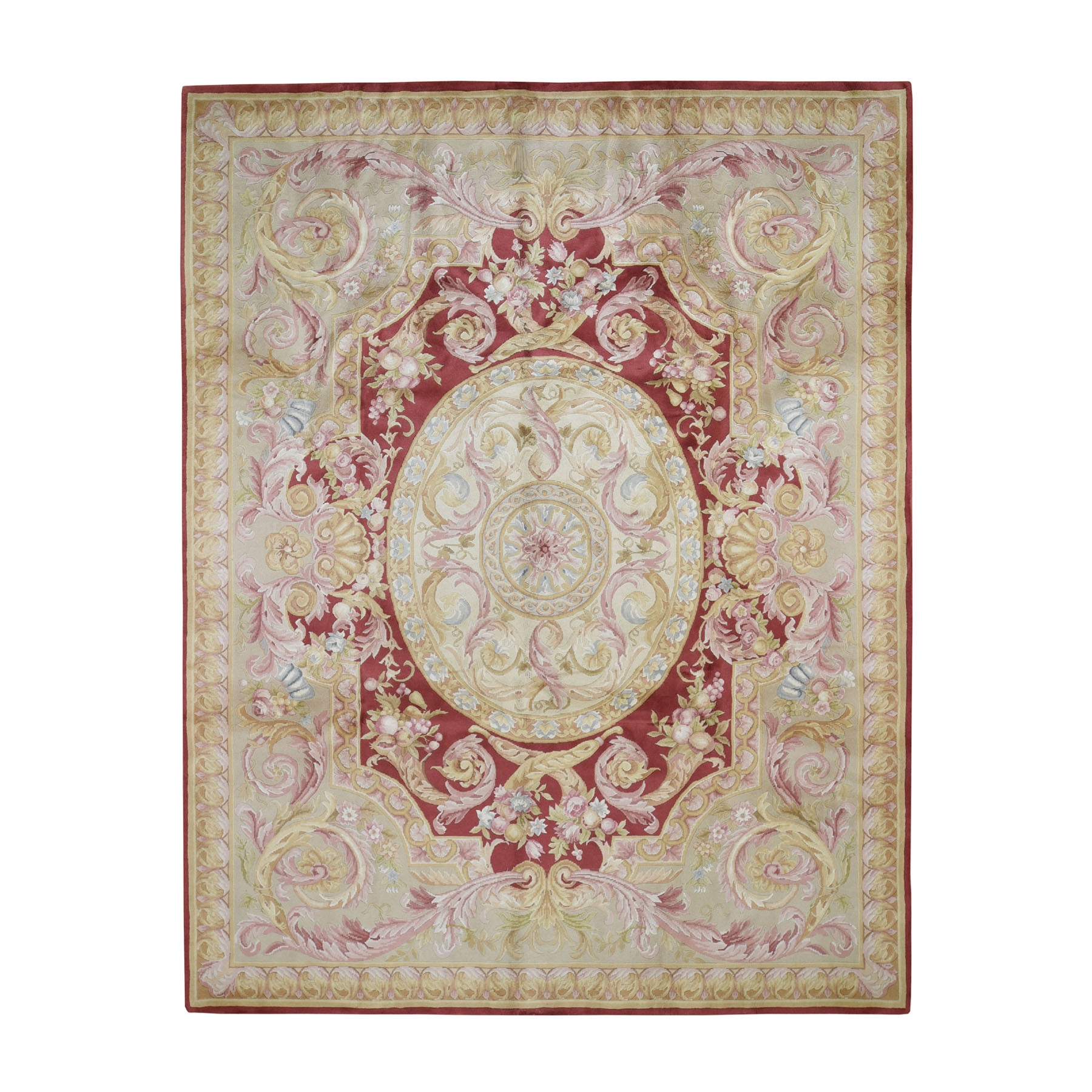 Elegant European Collection Hand Knotted Red Rug No: 193556