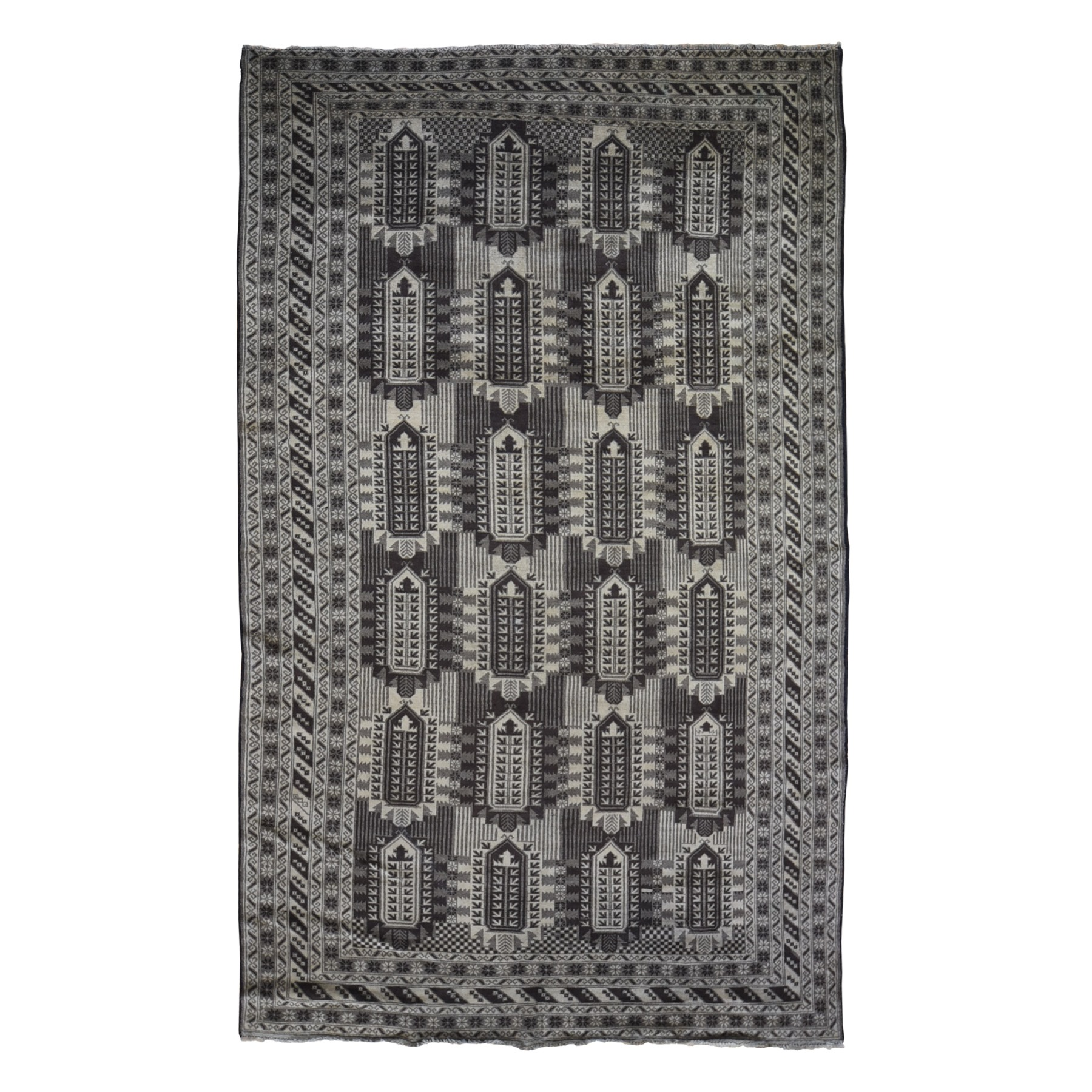 Nomadic And Village Collection Hand Knotted Brown Rug No: 1119542