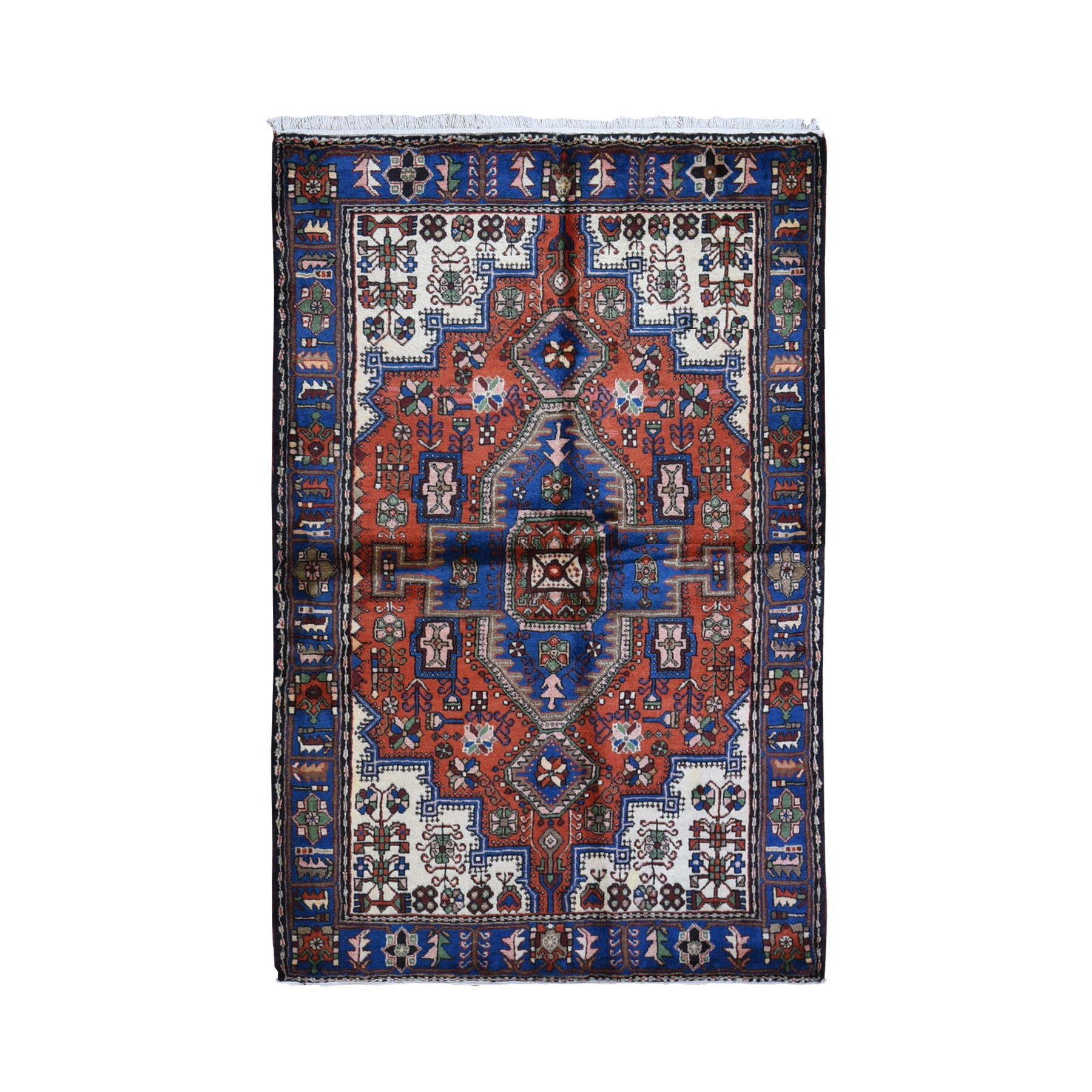 Classic Persian Collection Hand Knotted Orange Rug No: 1119570