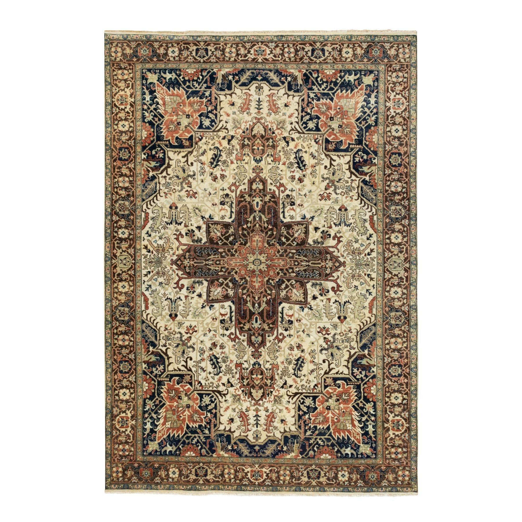 Serapi Heriz and Bakhshayesh Collection Hand Knotted Beige Rug No: 1117980