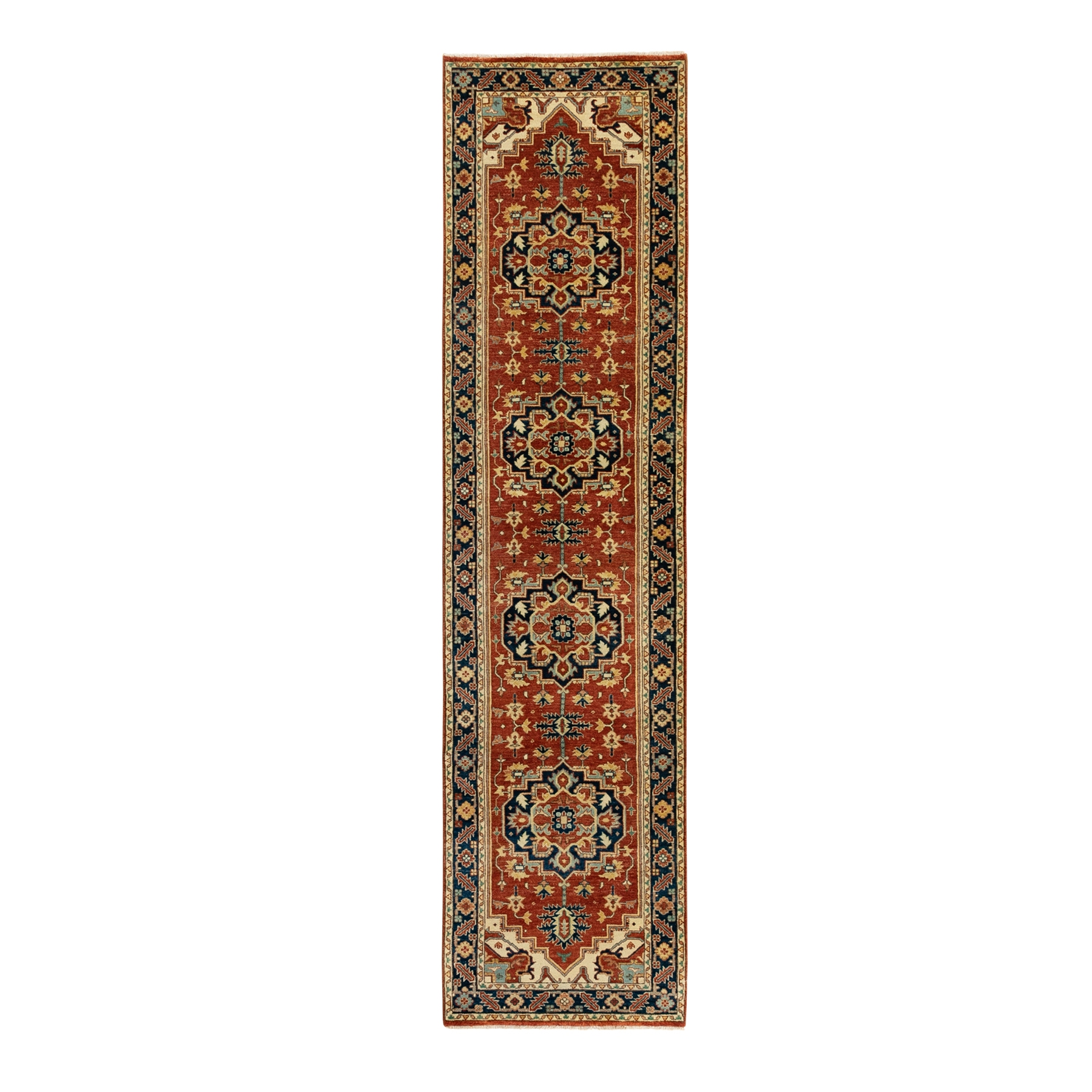 Serapi Heriz and Bakhshayesh Collection Hand Knotted Red Rug No: 1124016