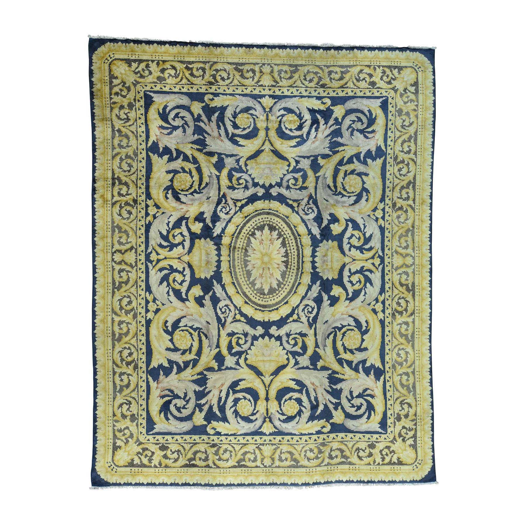 Antique Collection Hand Knotted Blue Rug No: 168848