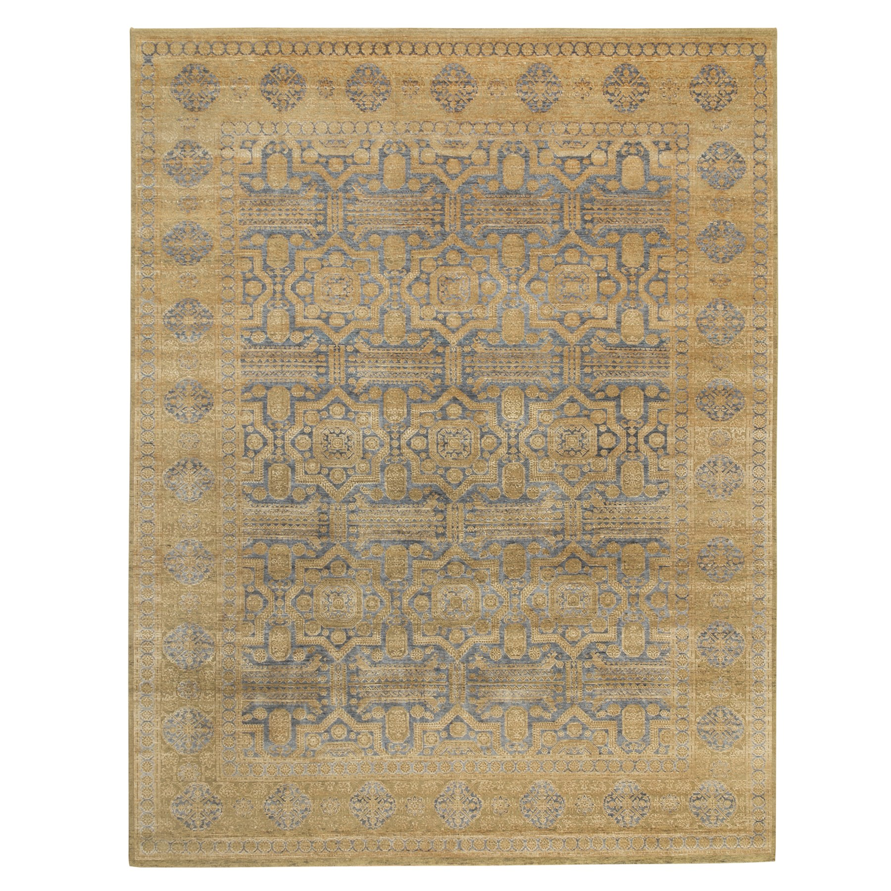 Intricate Collection Hand Knotted Beige Rug No: 1117882
