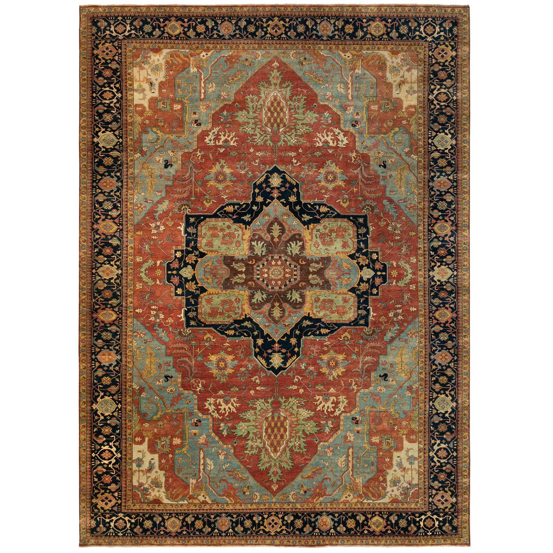 Serapi Heriz and Bakhshayesh Collection Hand Knotted Red Rug No: 1124044