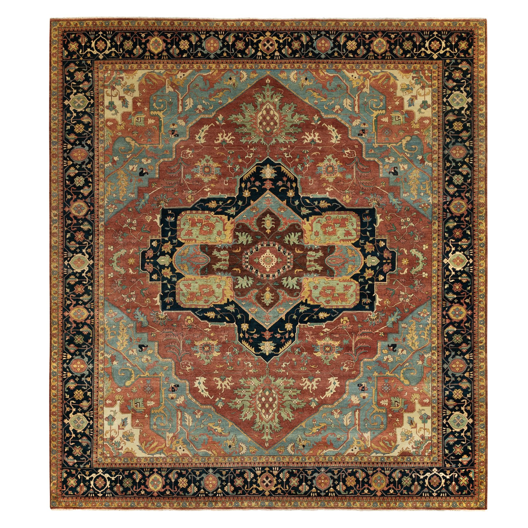 Serapi Heriz and Bakhshayesh Collection Hand Knotted Red Rug No: 1124046