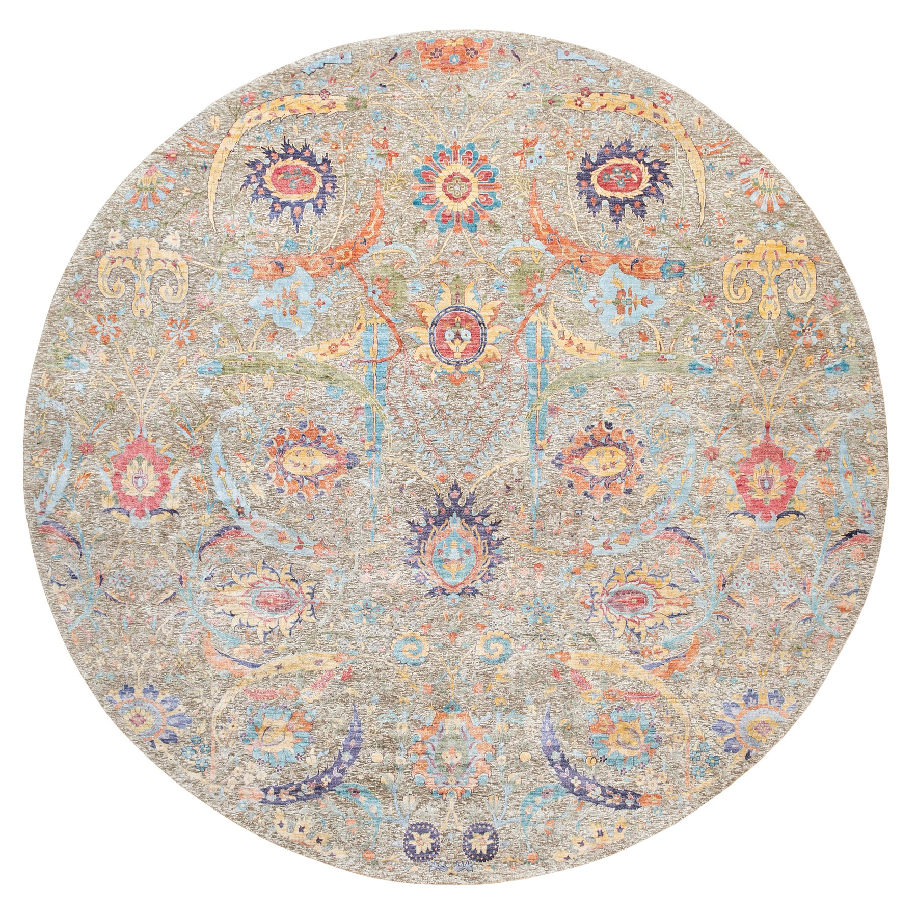 Transitional Hand Knotted Brown Rug No: 1117930