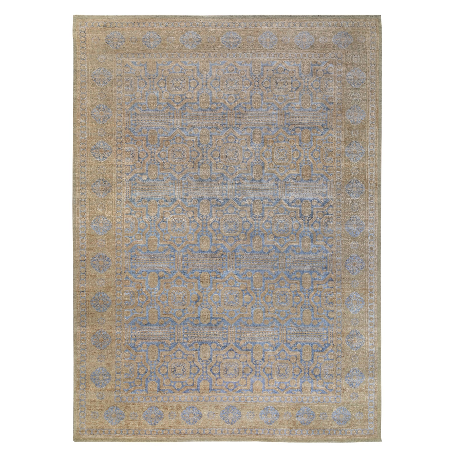 Intricate Collection Hand Knotted Beige Rug No: 1117824