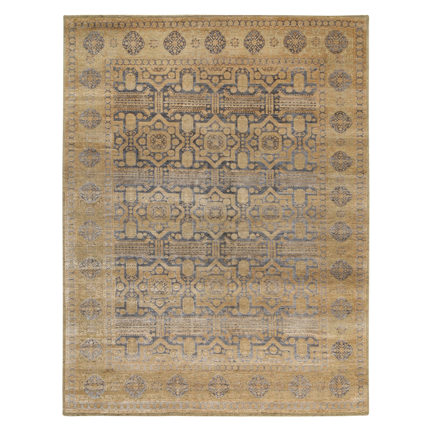 Intricate Collection Hand Knotted Beige Rug No: 1117862