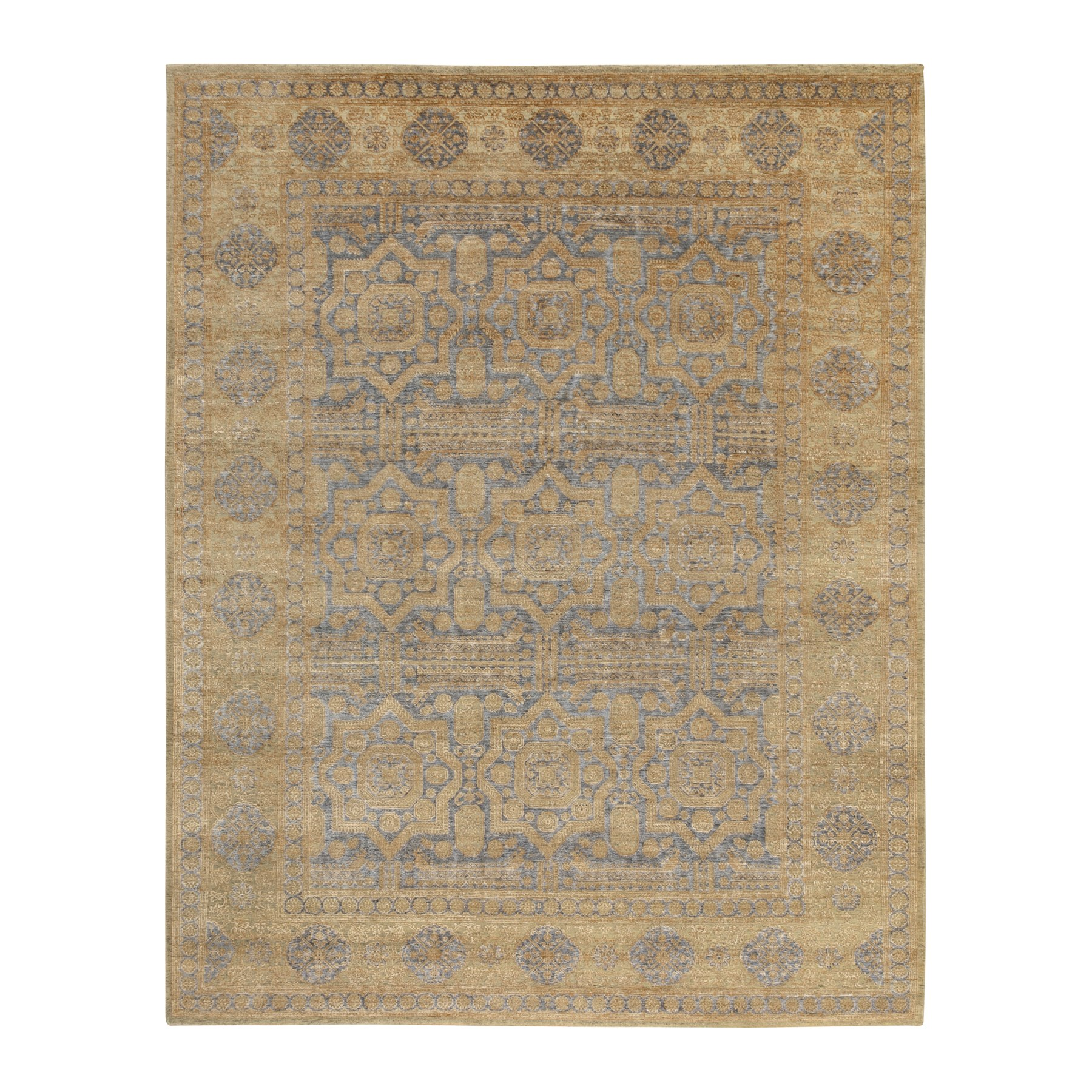 Intricate Collection Hand Knotted Beige Rug No: 1117836