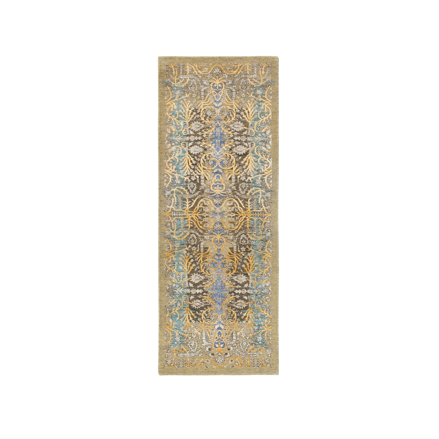 Transitional Hand Knotted Grey Rug No: 1117894