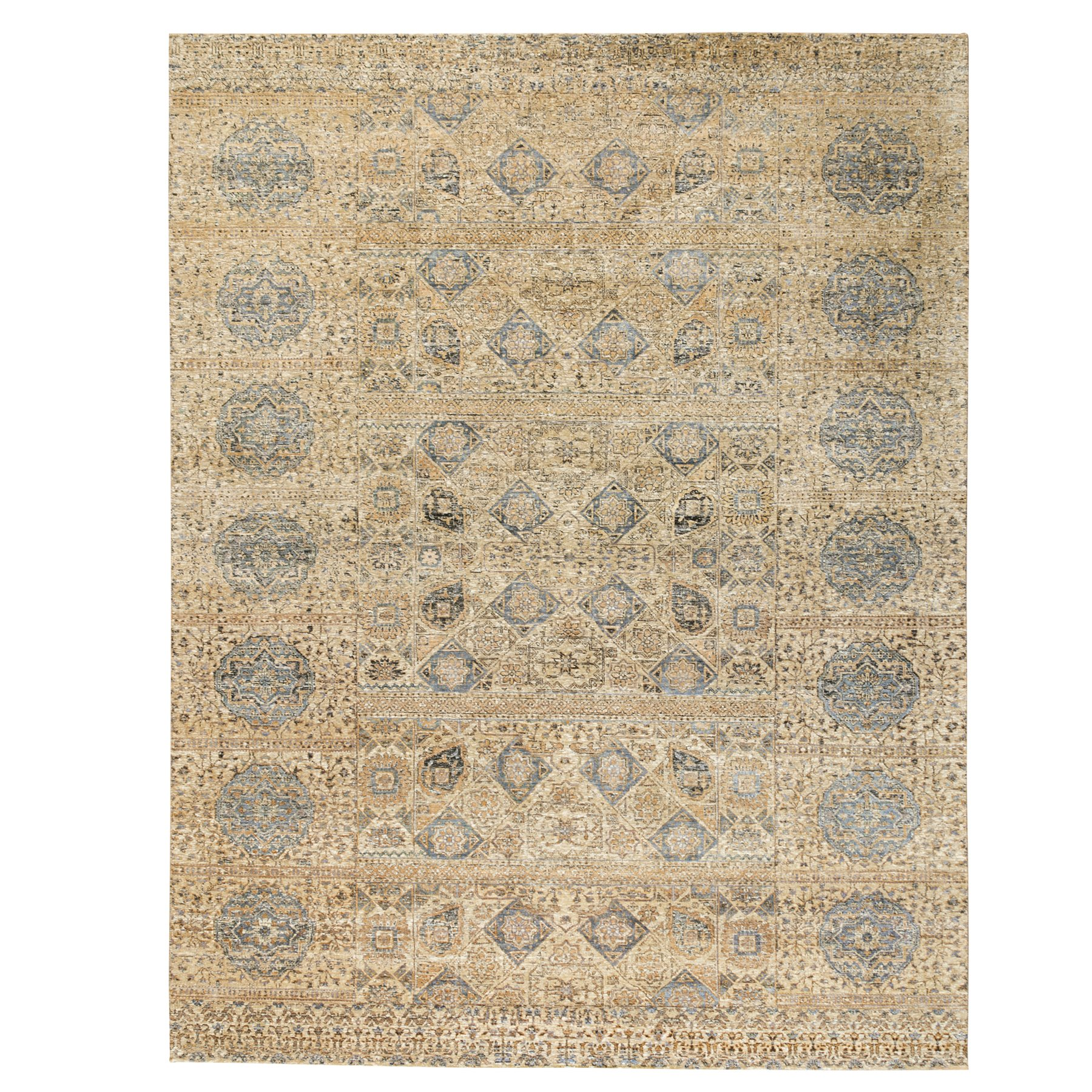 Transitional Hand Knotted Beige Rug No: 1117864