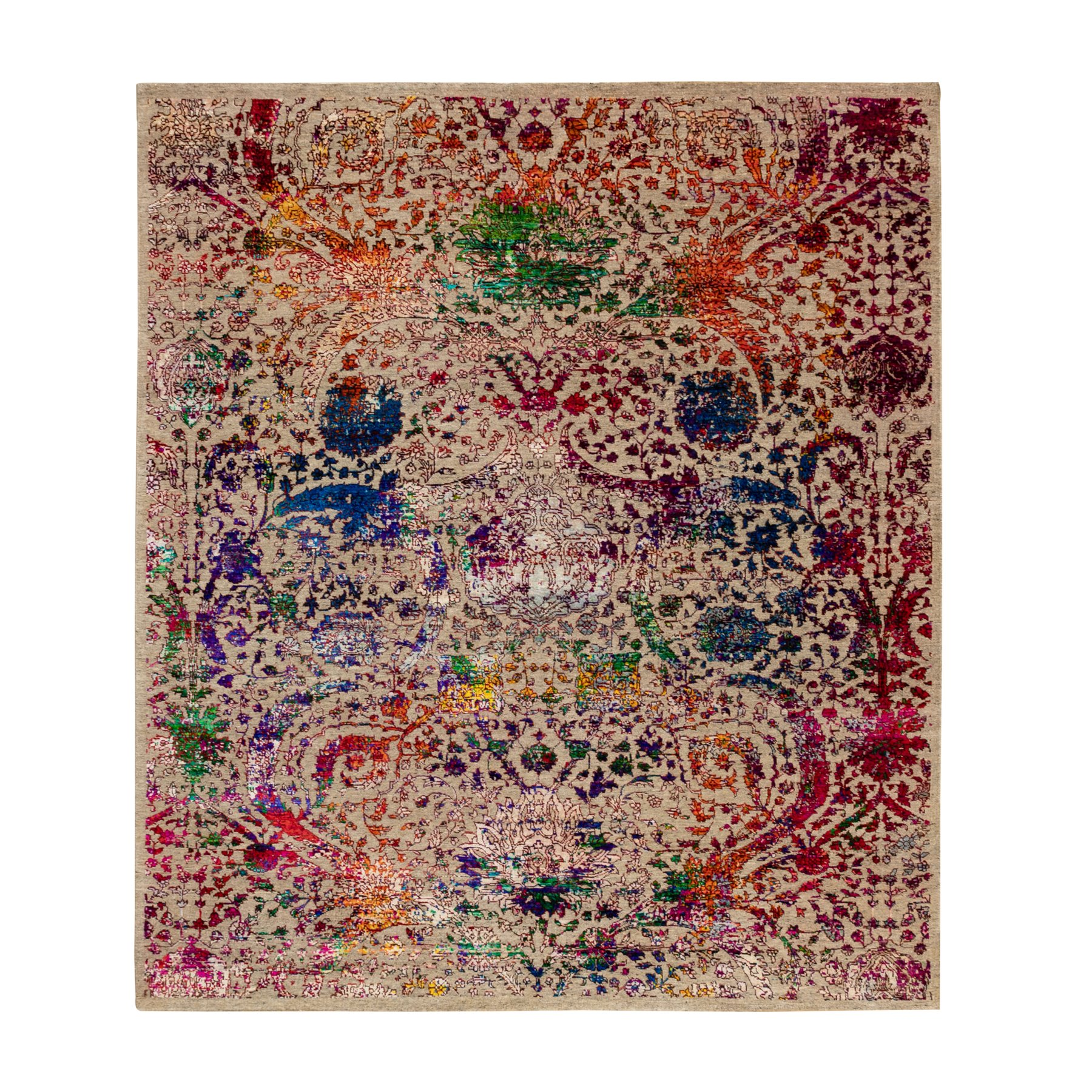 Transitional Hand Knotted Brown Rug No: 1117840