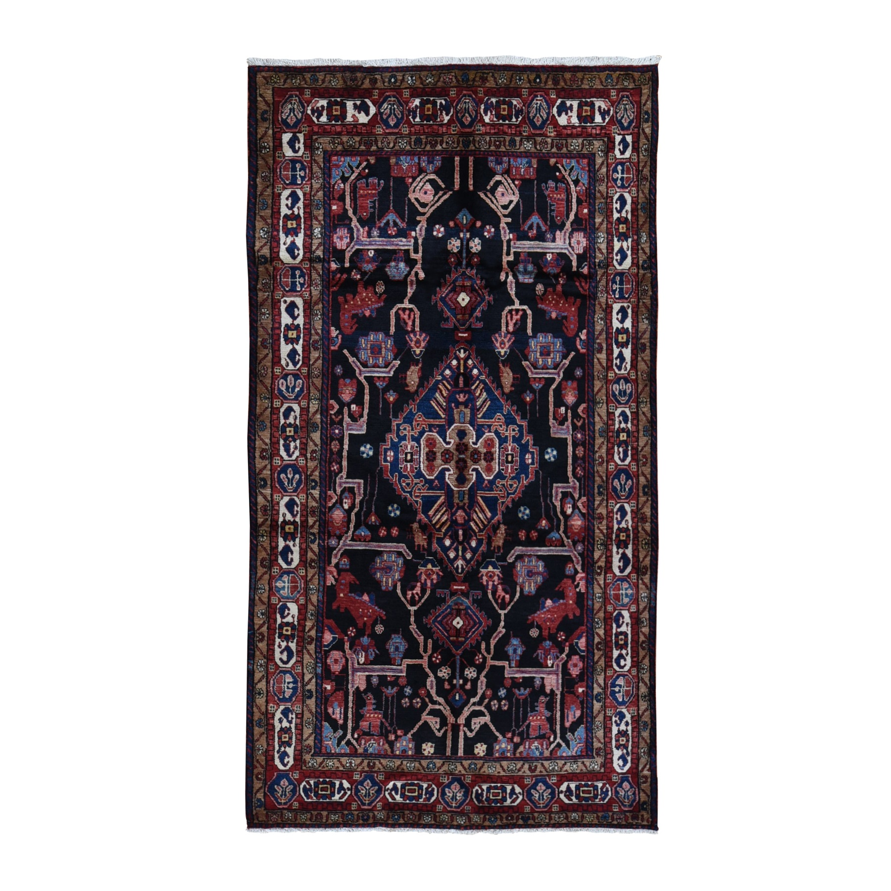 Classic Persian Collection Hand Knotted Black Rug No: 1119594