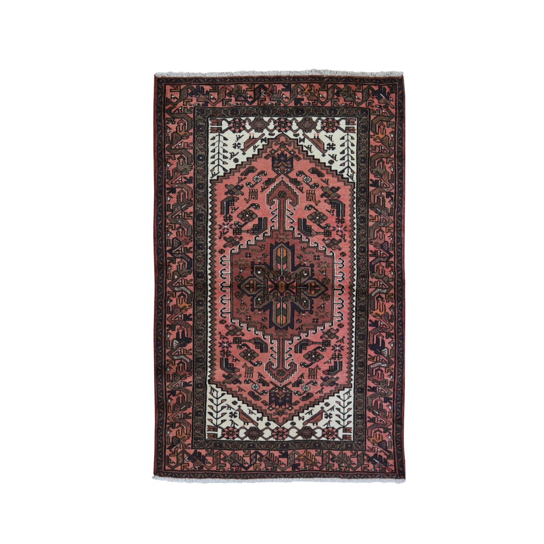 Classic Persian Collection Hand Knotted Orange Rug No: 1119592